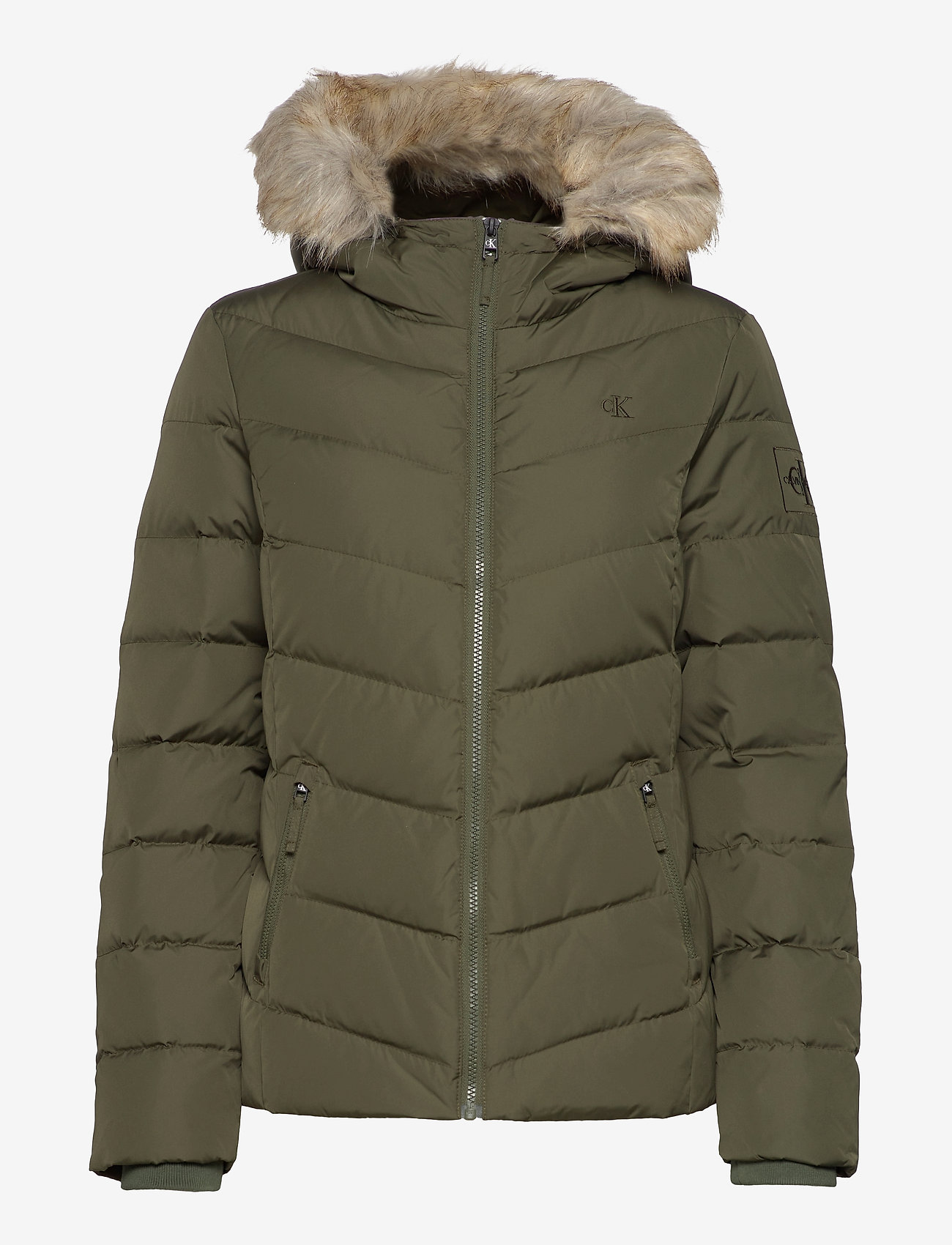 Calvin Klein Jeans - SHORT DOWN FITTED PUFFER - fôrede jakker - deep depths - 1