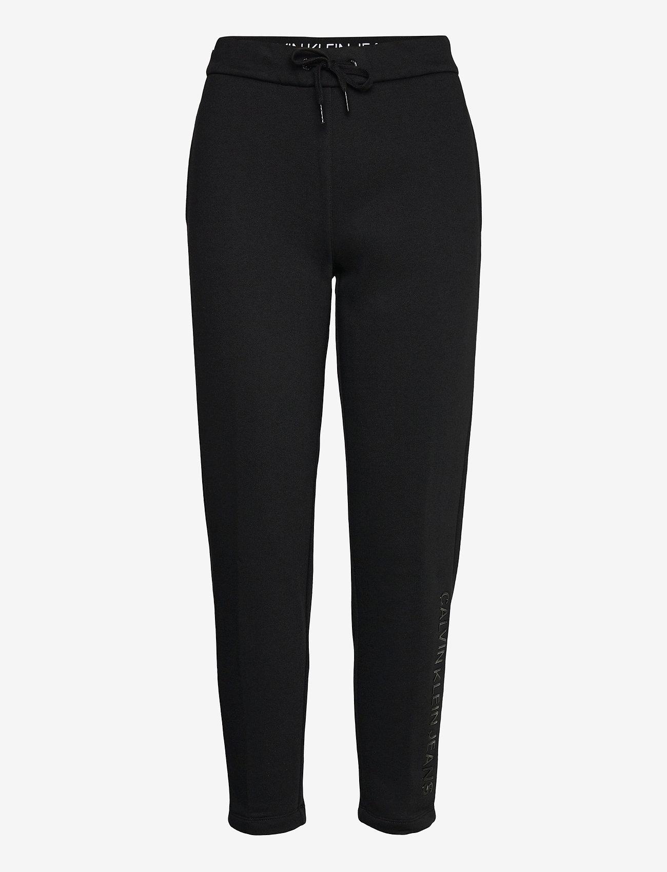 Calvin Klein Jeans - SHINY RAISED INST JOG PANT - sweatpants - ck black - 0