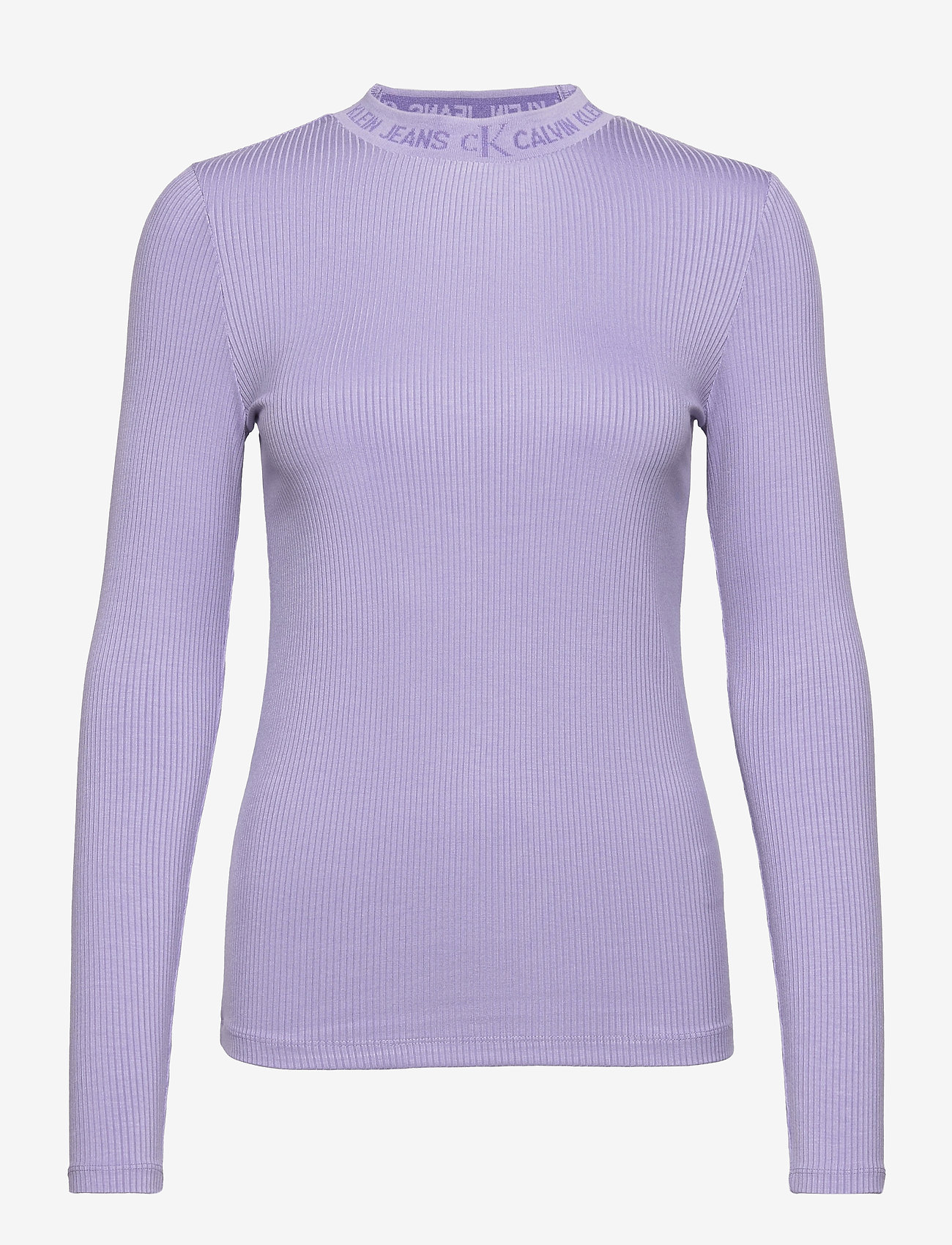 Calvin Klein Jeans - LOGO TRIM RIB LONG SLEEVES - langermede topper - palma lilac - 0
