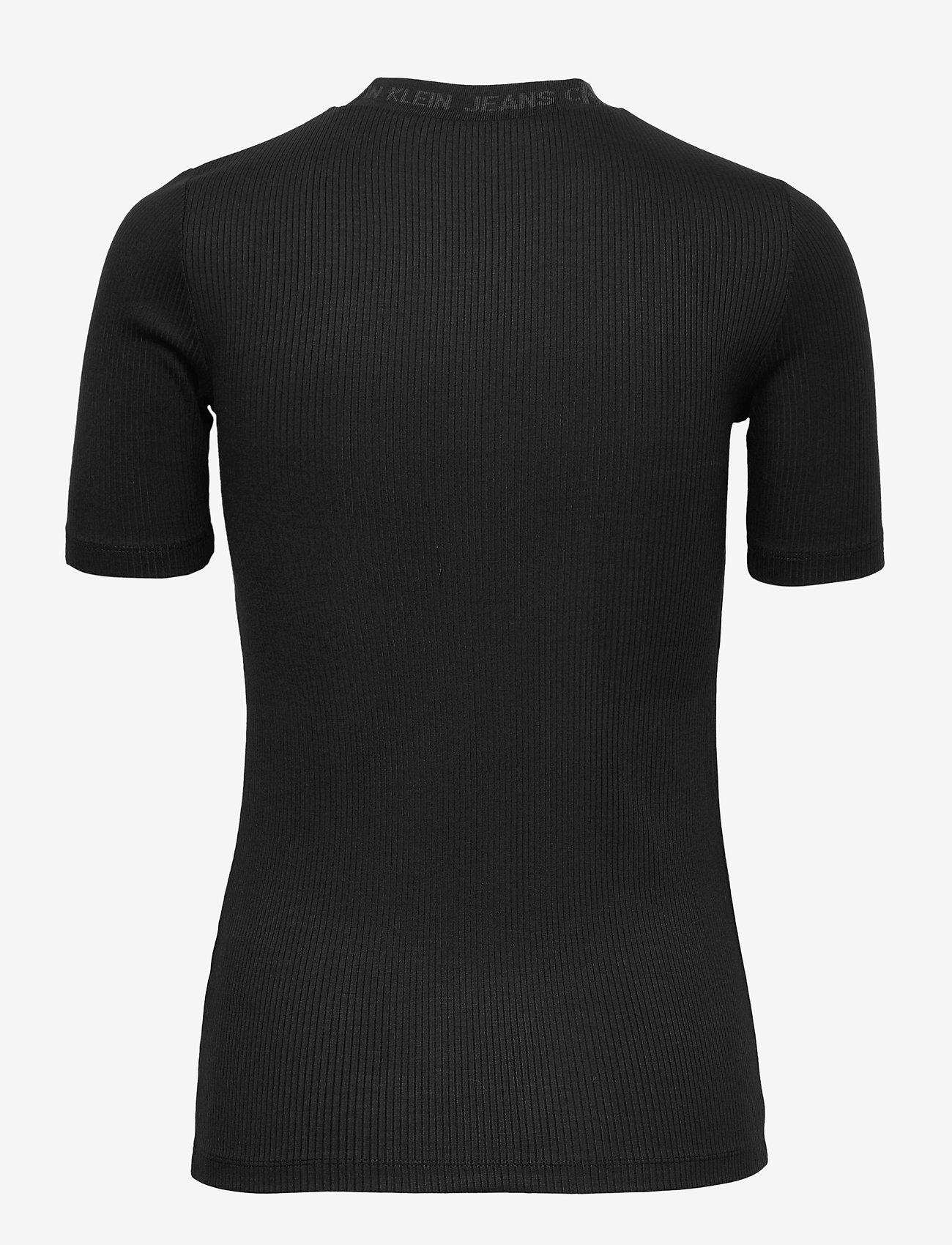 Calvin Klein Jeans - LOGO TRIM RIB TEE - strikkede toppe - ck black - 1