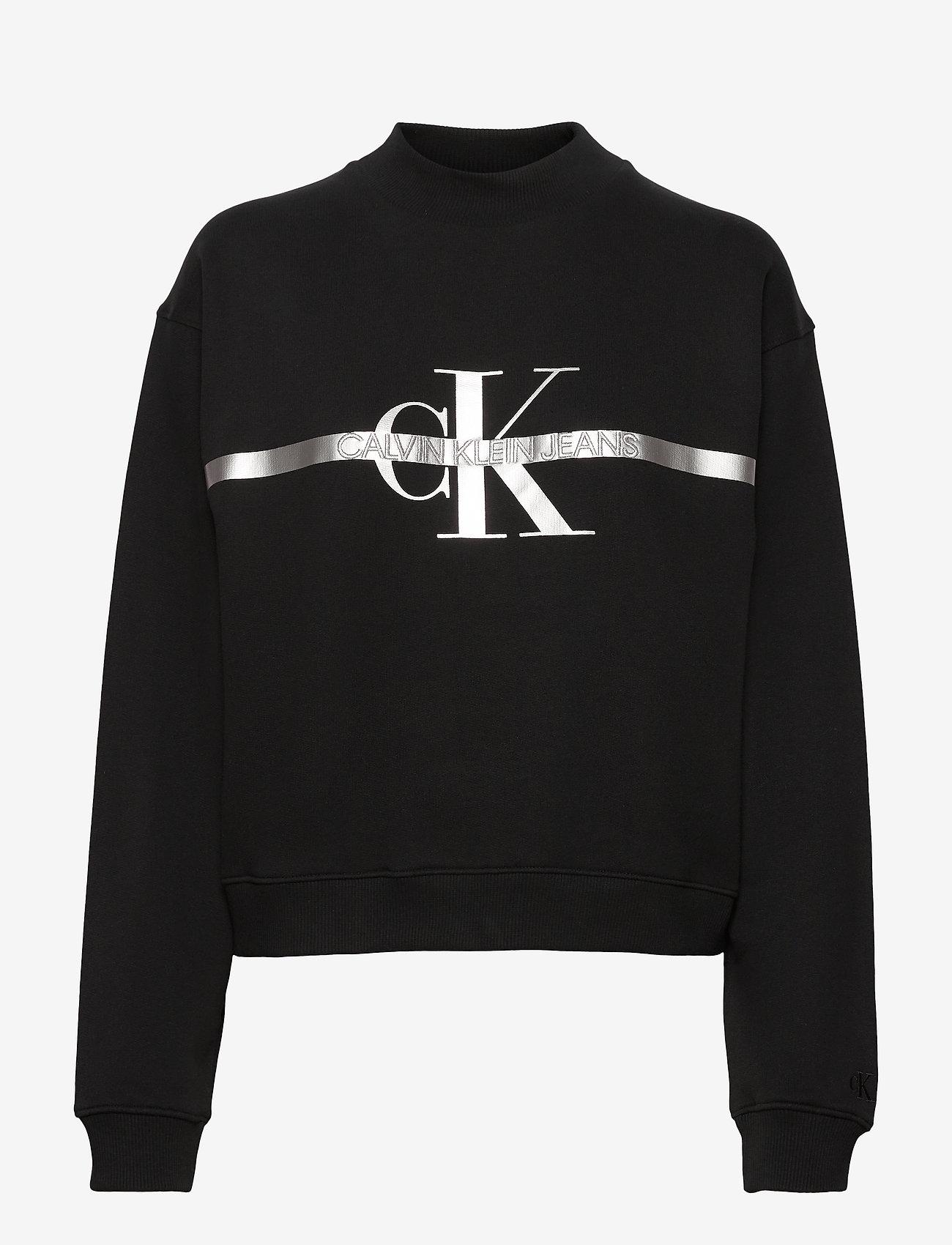 Calvin Klein Jeans - GOLD MONOGRAM SWEATSHIRT - gensere og hettegensere - ck black - 0