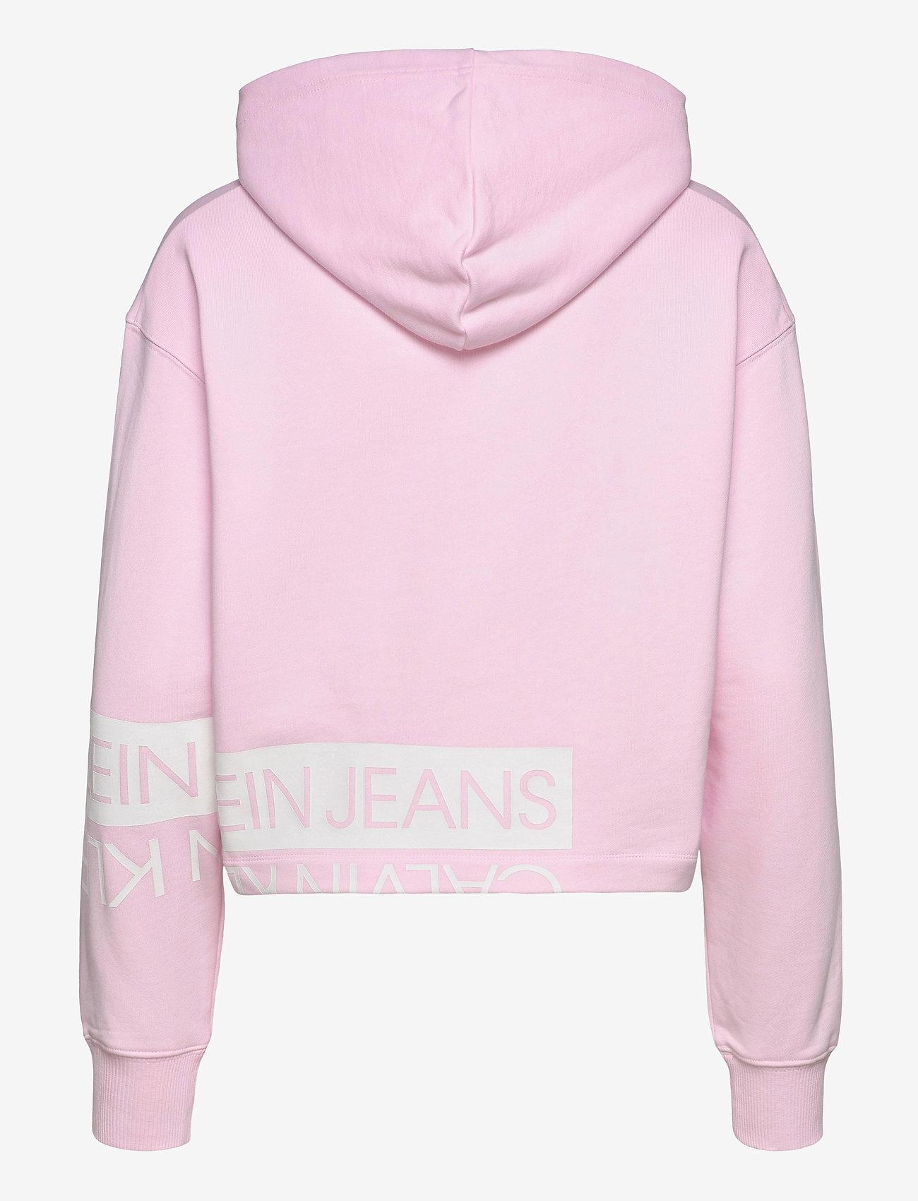 Calvin Klein Jeans - MIRRORED LOGO HOODIE - gensere og hettegensere - pearly pink / bright white - 1