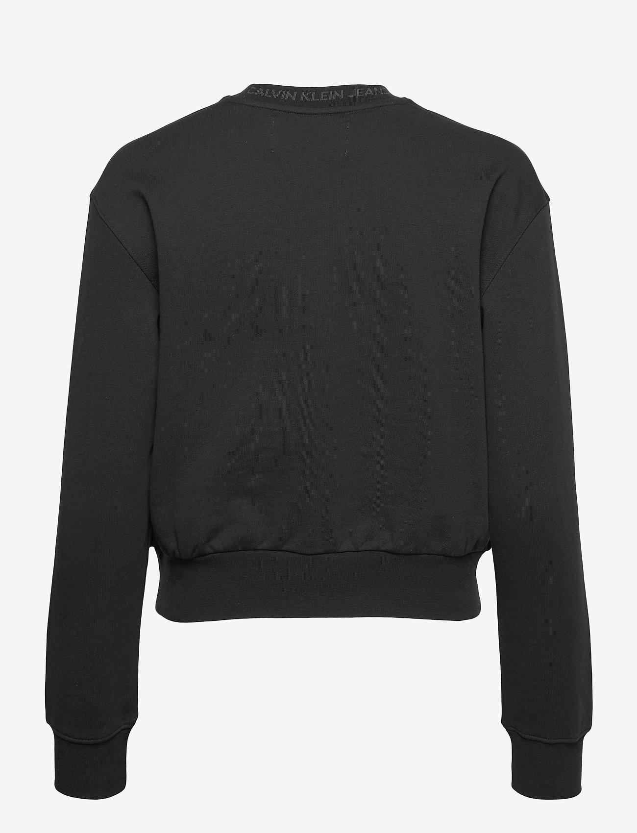 Calvin Klein Jeans - LOGO TRIM CREW NECK SWEATSHIRT - gensere og hettegensere - ck black - 1