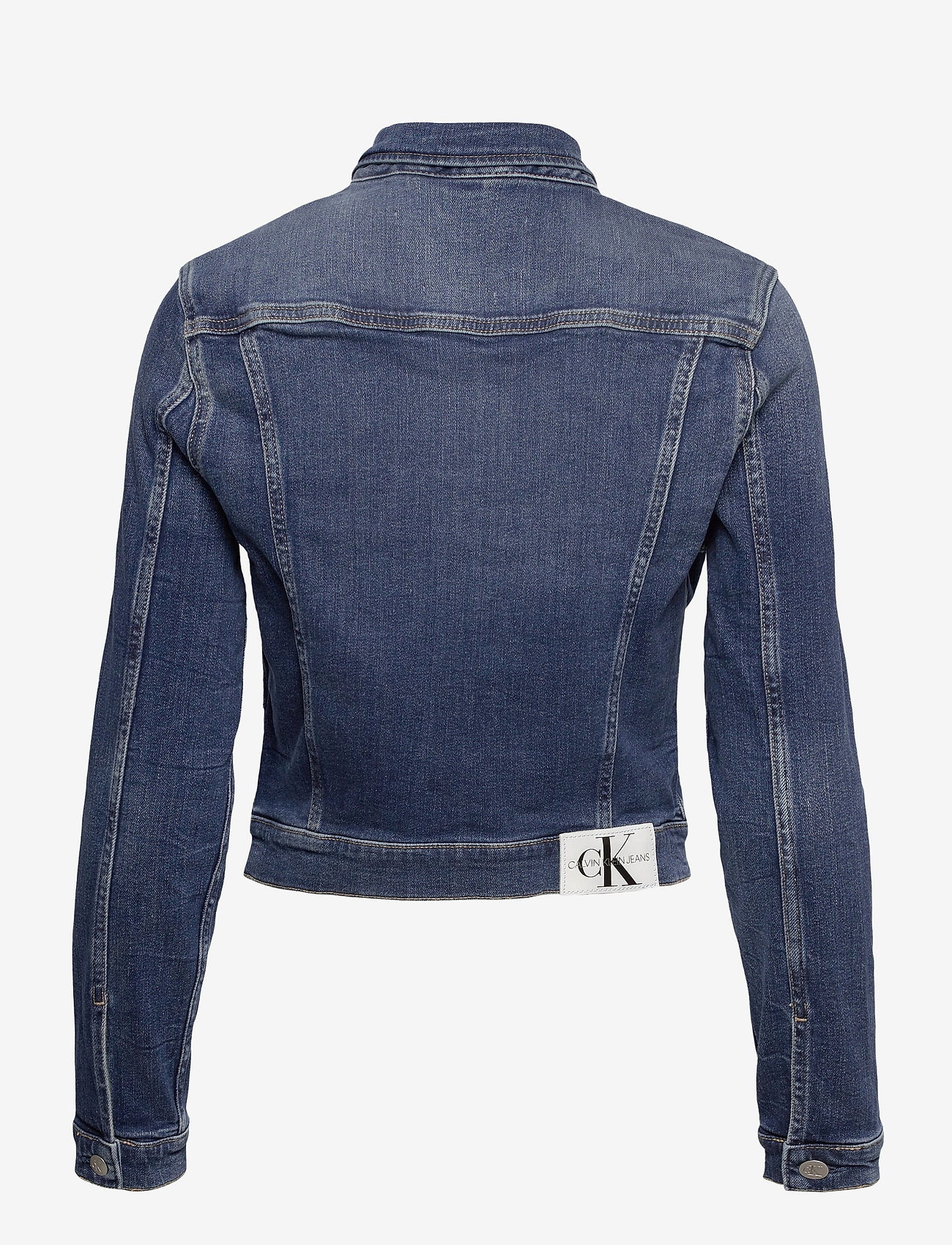 Calvin Klein Jeans - CROPPED 90S DENIM JACKET - jeansjakker - denim dark - 1