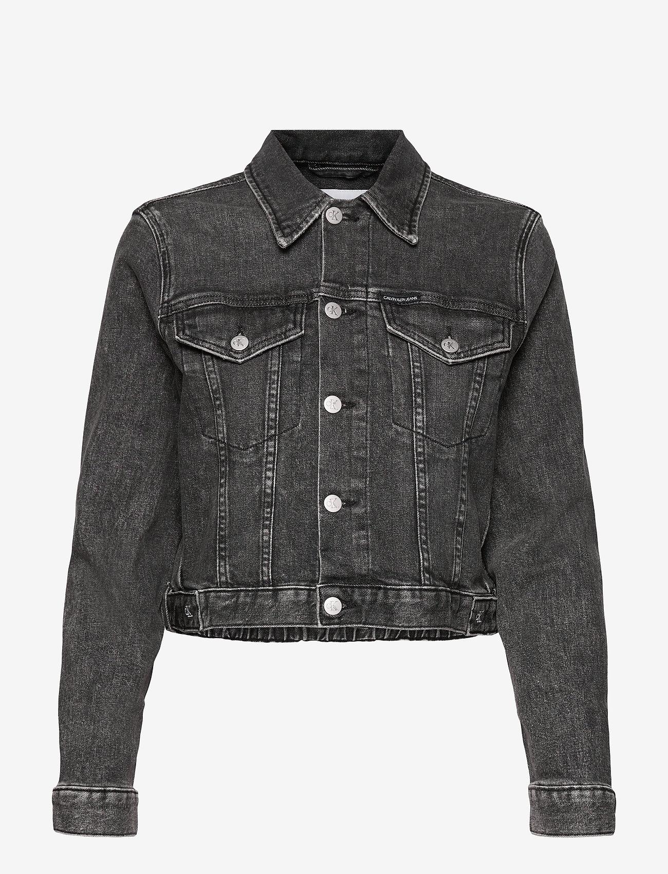 Calvin Klein Jeans - CROPPED DENIM JACKET - jeansjakker - denim grey - 0
