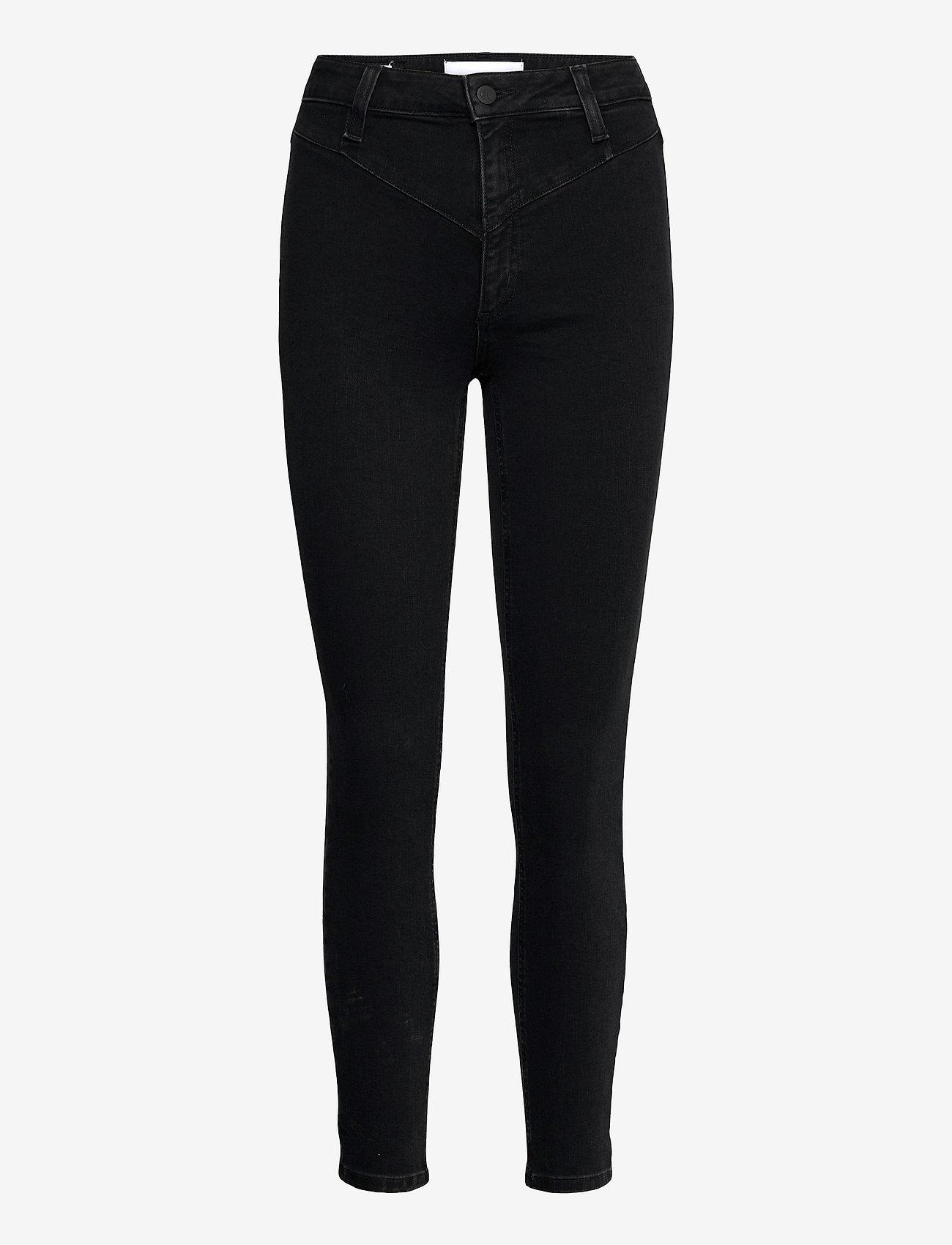 Calvin Klein Jeans - HIGH RISE SKINNY ANKLE - skinny jeans - denim black - 0