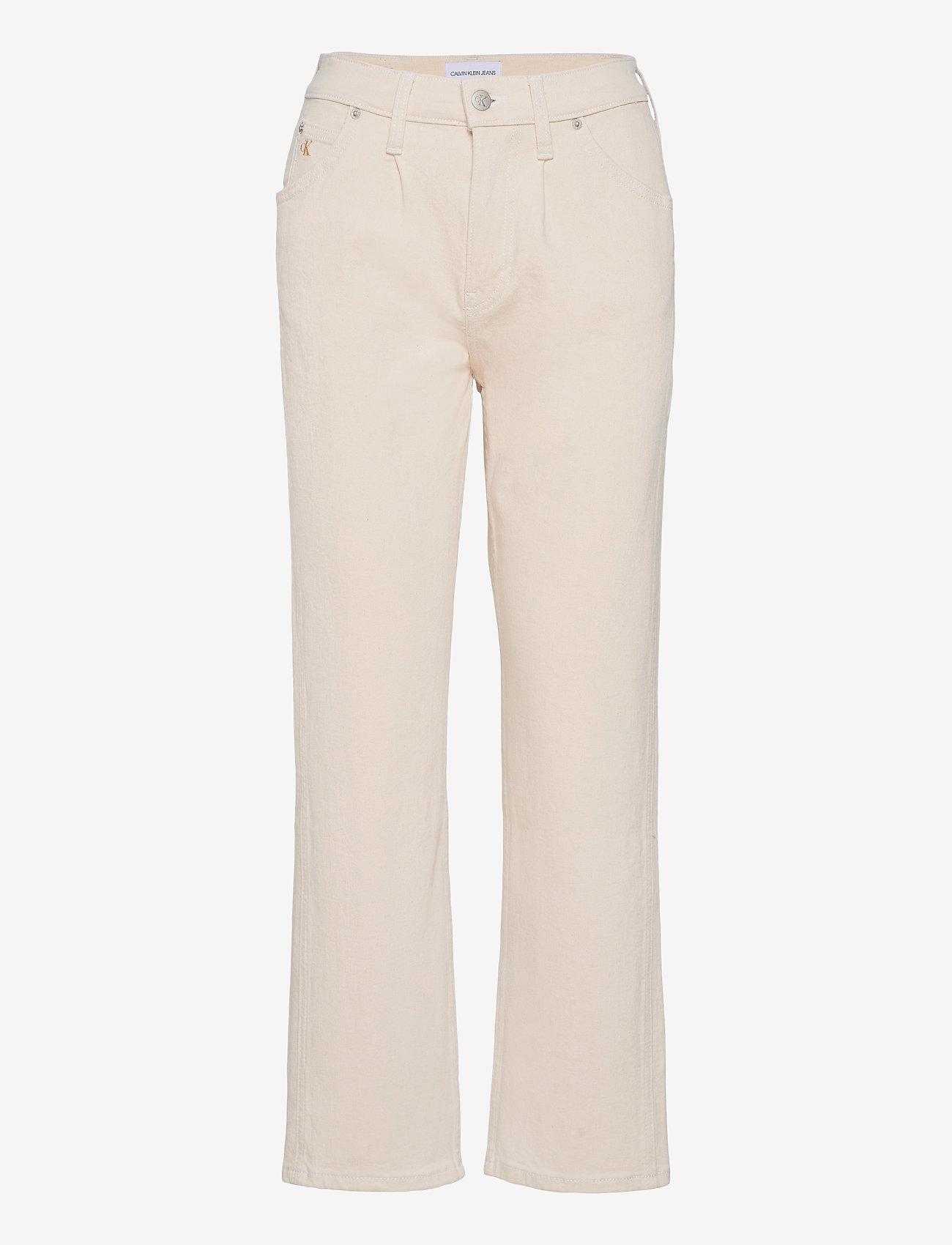 Calvin Klein Jeans - HIGH RISE STRAIGHT ANKLE - straight jeans - denim light - 0