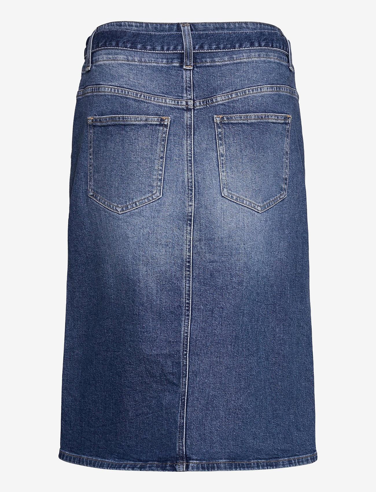 Calvin Klein Jeans - HIGH RISE MIDI SKIRT - denimskjørt - denim dark - 1