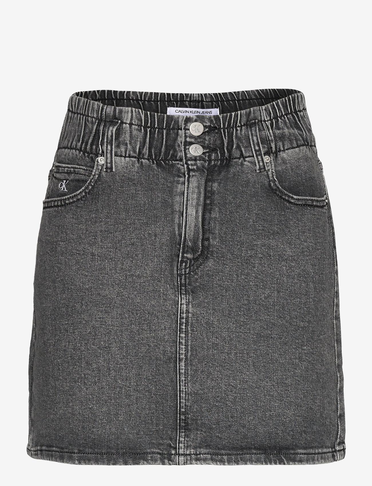 Calvin Klein Jeans - HIGH RISE MINI SKIRT - jeanskjolar - denim grey - 0