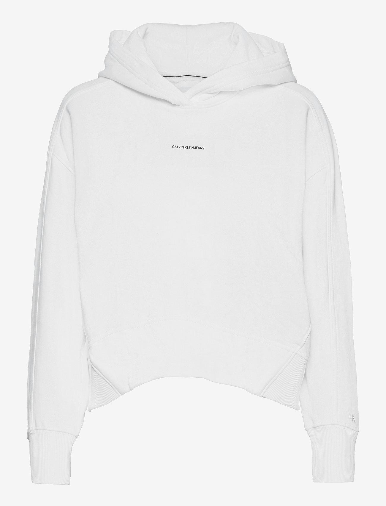 Calvin Klein Jeans - MICRO BRANDING HOODIE - hettegensere - bright white - 0