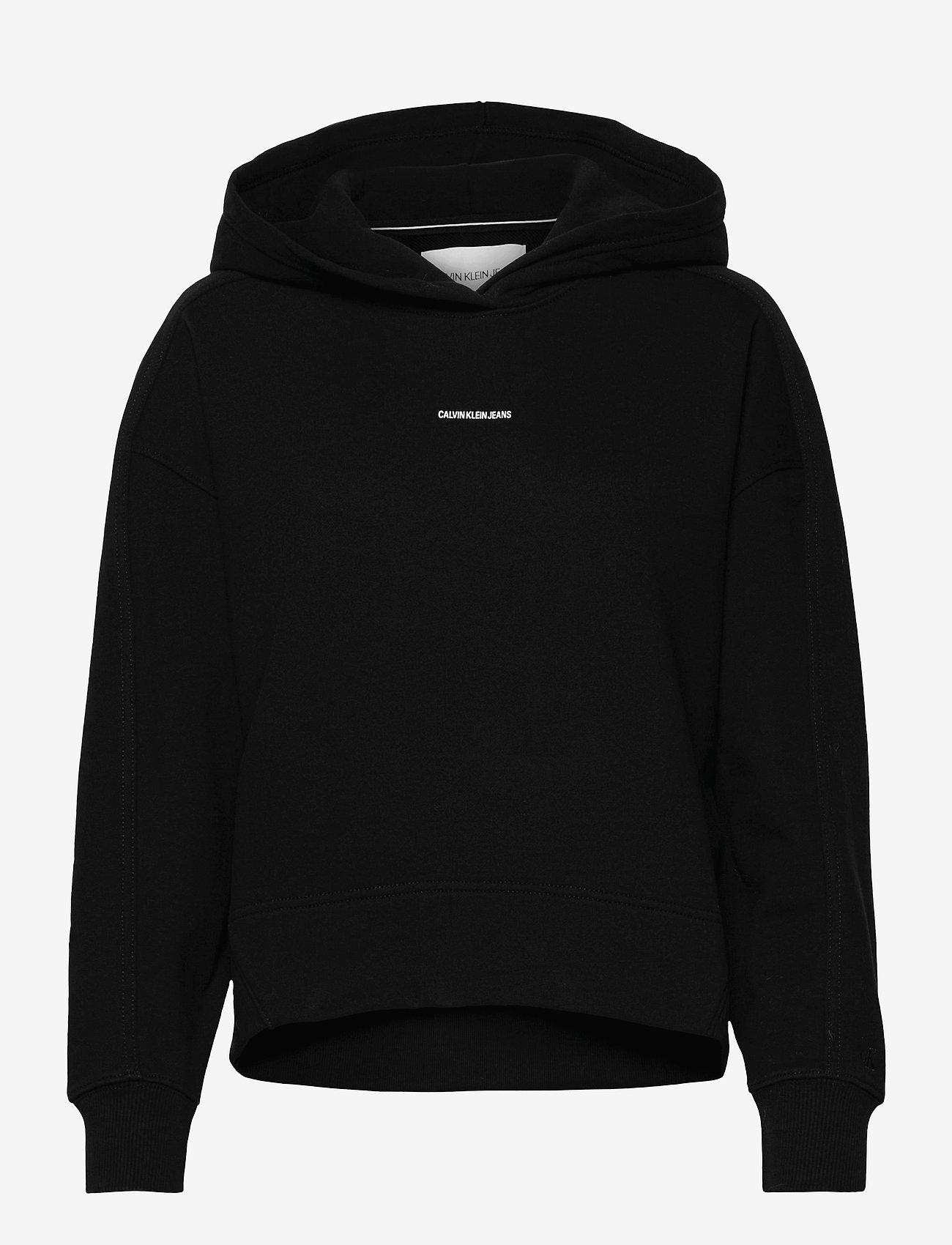 Calvin Klein Jeans - MICRO BRANDING HOODIE - gensere og hettegensere - ck black - 0