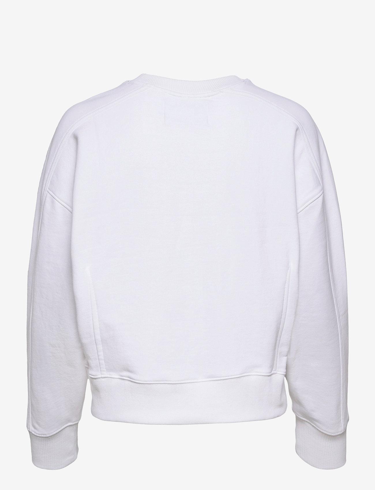 Calvin Klein Jeans - MICRO BRANDING SWEATSHIRT - gensere og hettegensere - bright white - 1