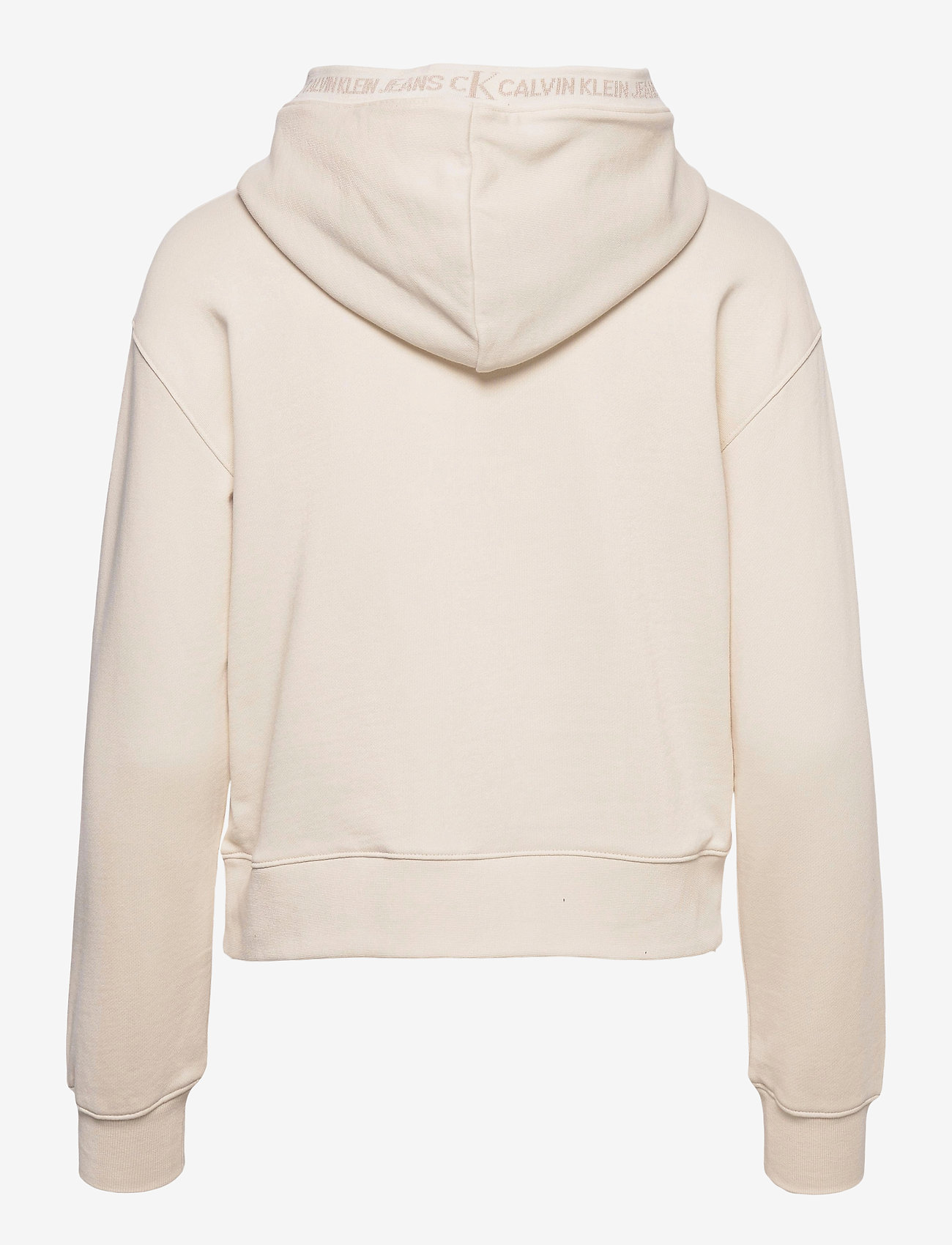 Calvin Klein Jeans - LOGO TRIM HOODIE - gensere og hettegensere - white sand - 1