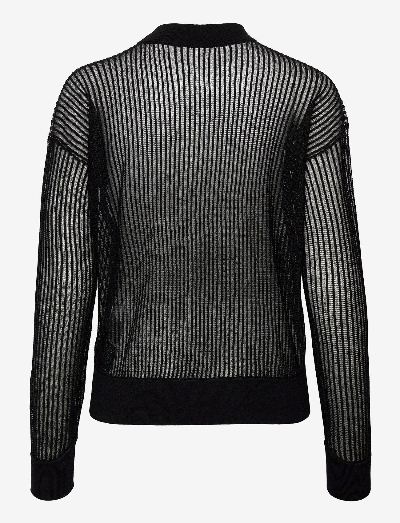 Calvin Klein Jeans - CK NECK SEE THROUGH SWEATER - gensere - ck black - 1