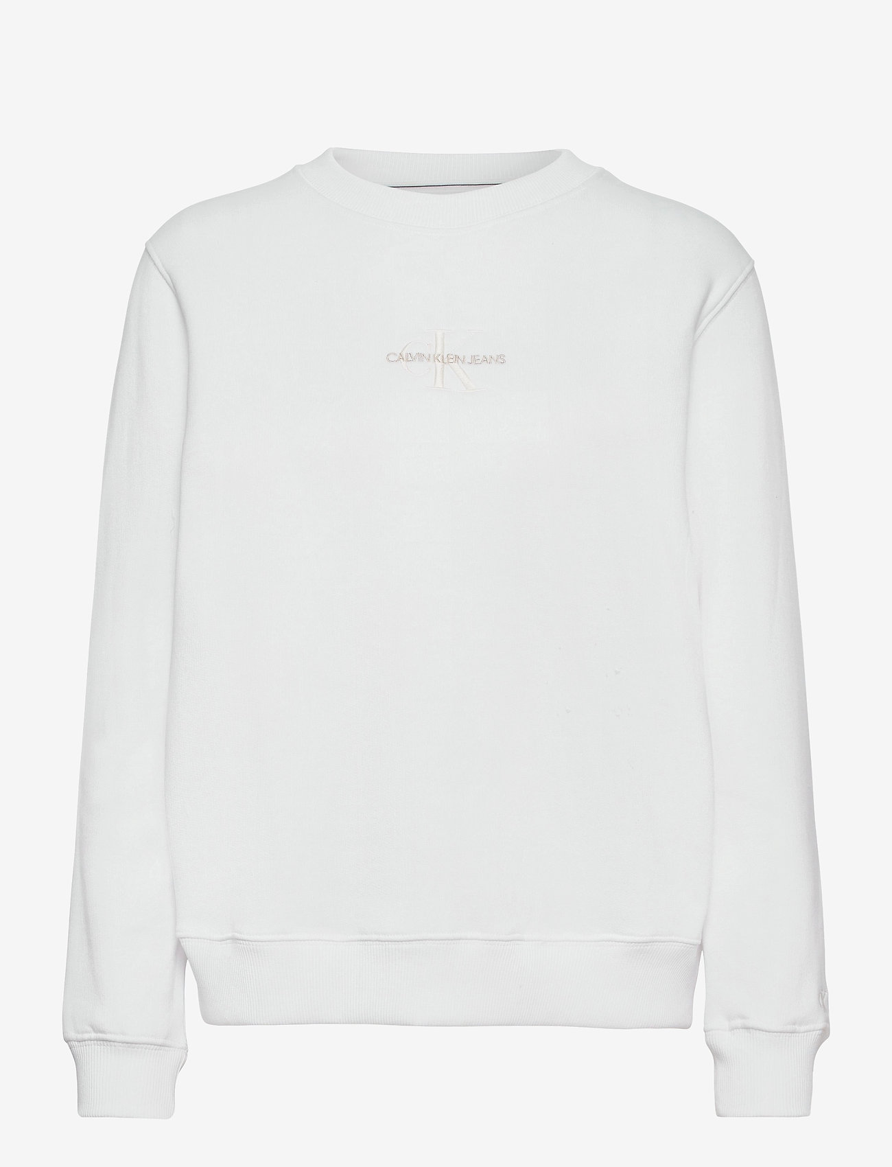 Calvin Klein Jeans - MONOGRAM LOGO CREW NECK - sweatshirts - bright white - 0
