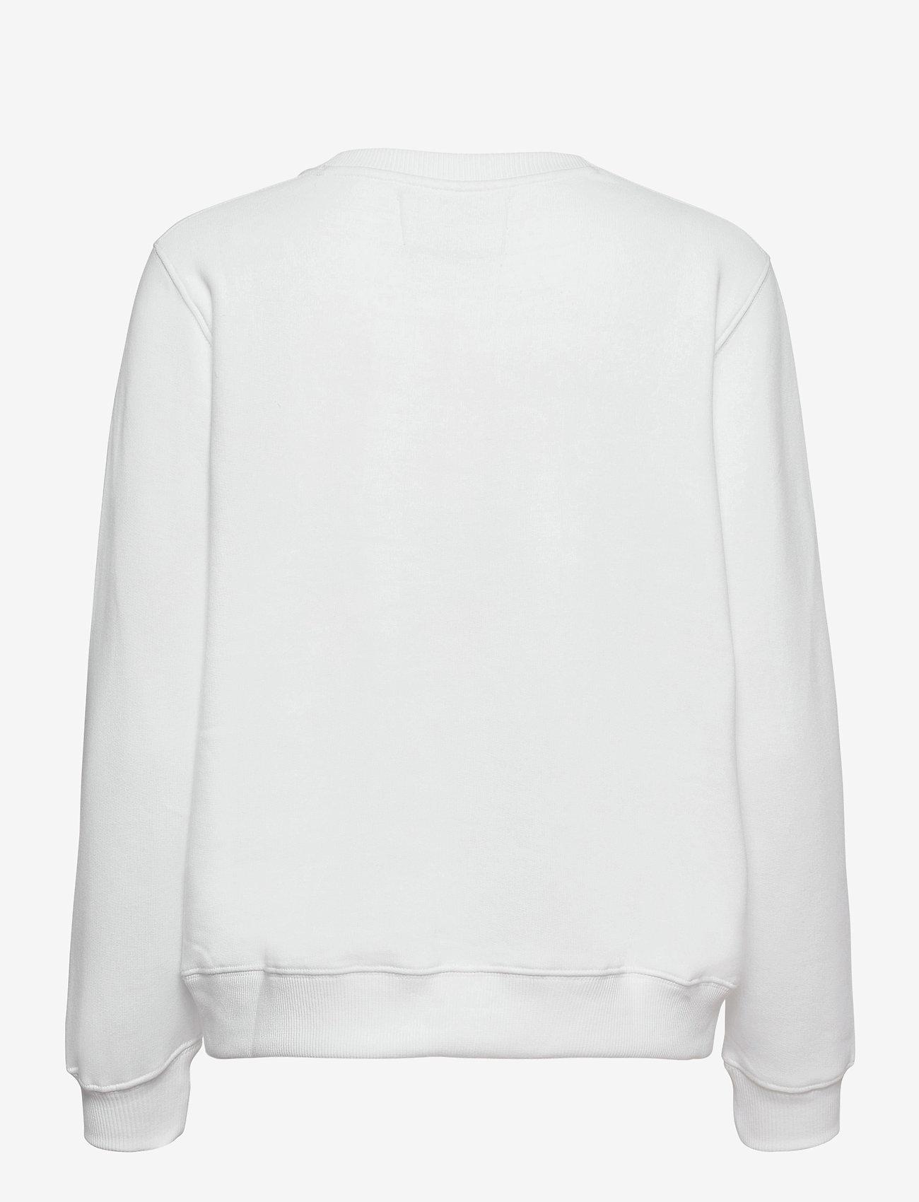 Calvin Klein Jeans - MONOGRAM LOGO CREW NECK - sweatshirts - bright white - 1