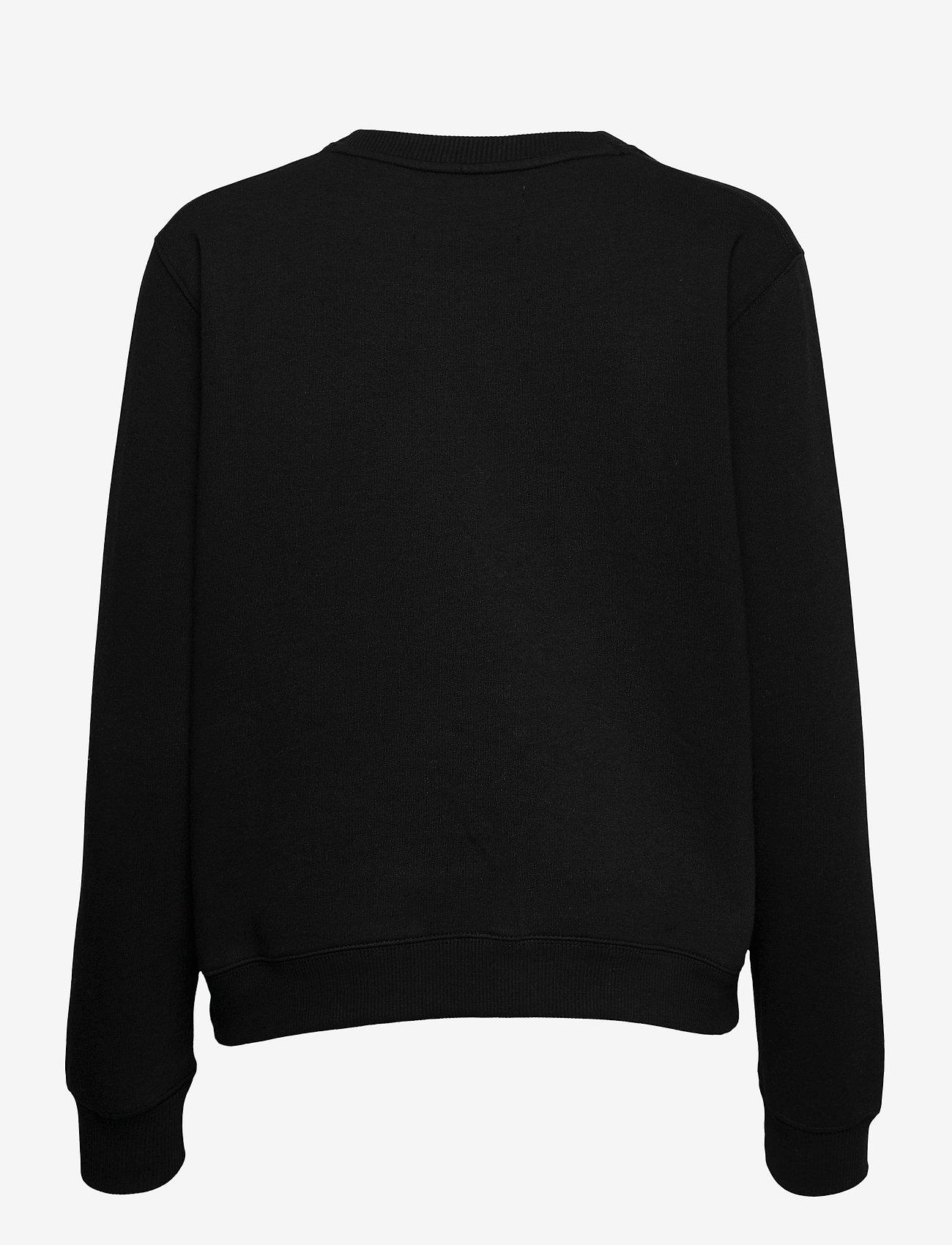 Calvin Klein Jeans - MONOGRAM LOGO CREW NECK - sweatshirts - ck black/party pink - 1