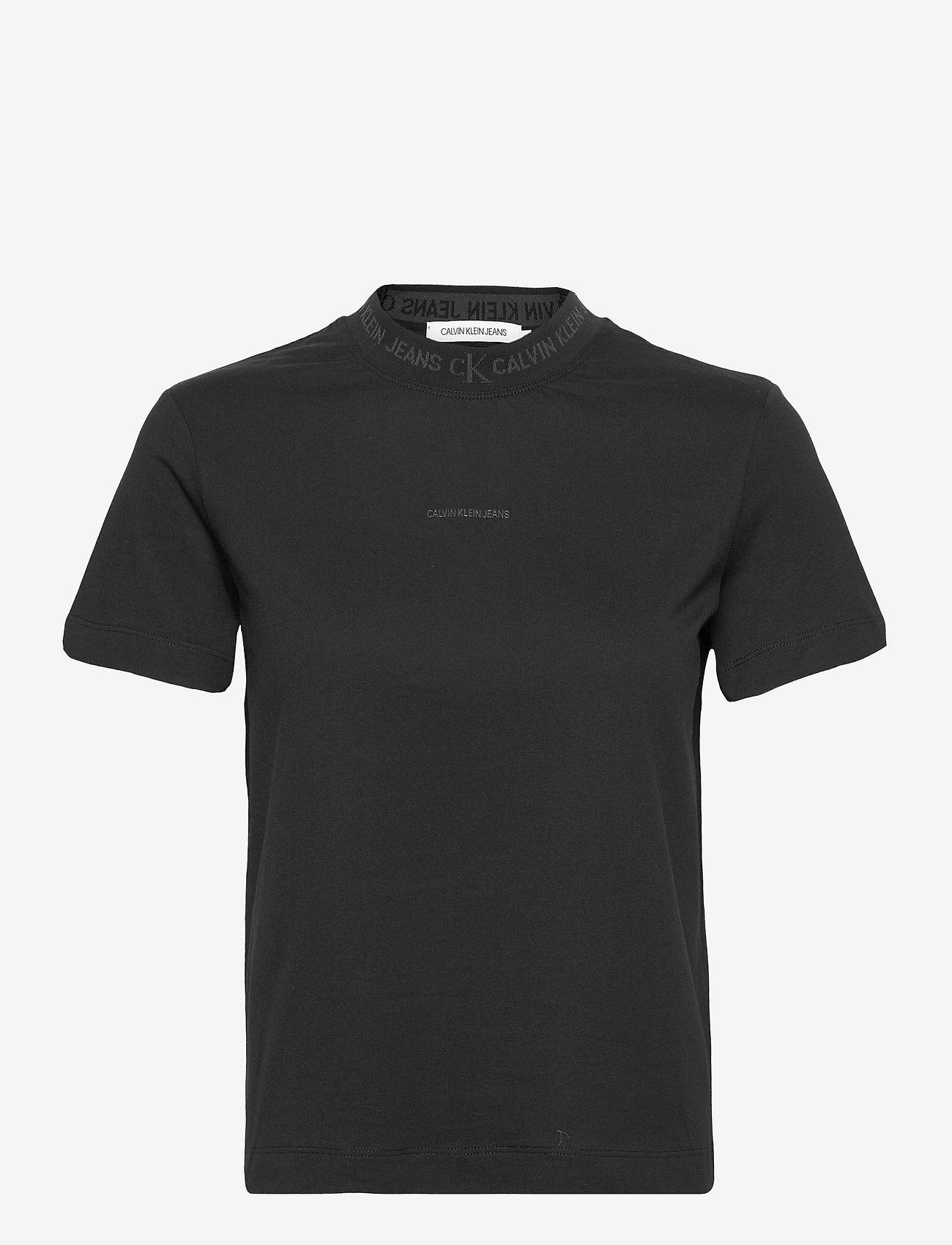 Calvin Klein Jeans - LOGO INTARSIA TEE - t-shirts - ck black - 0