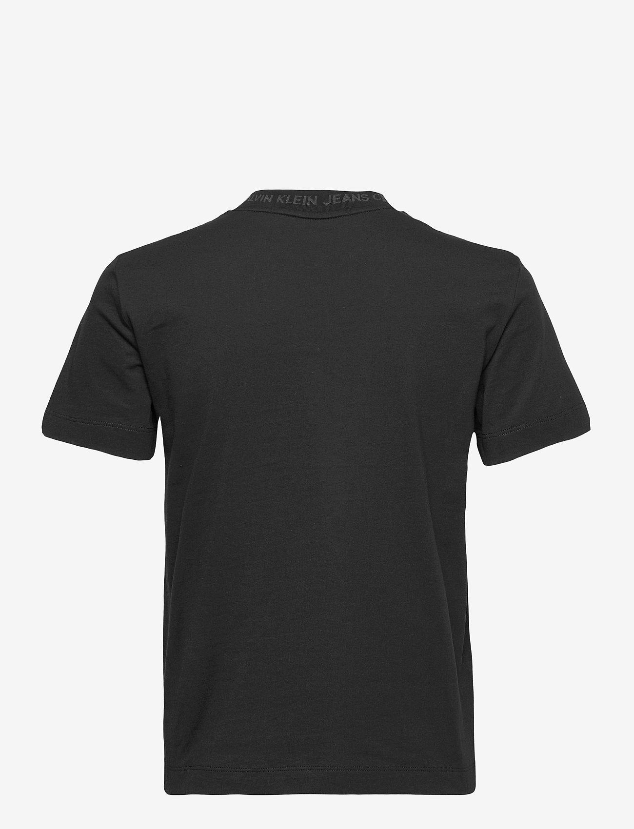 Calvin Klein Jeans - LOGO INTARSIA TEE - t-shirts - ck black - 1