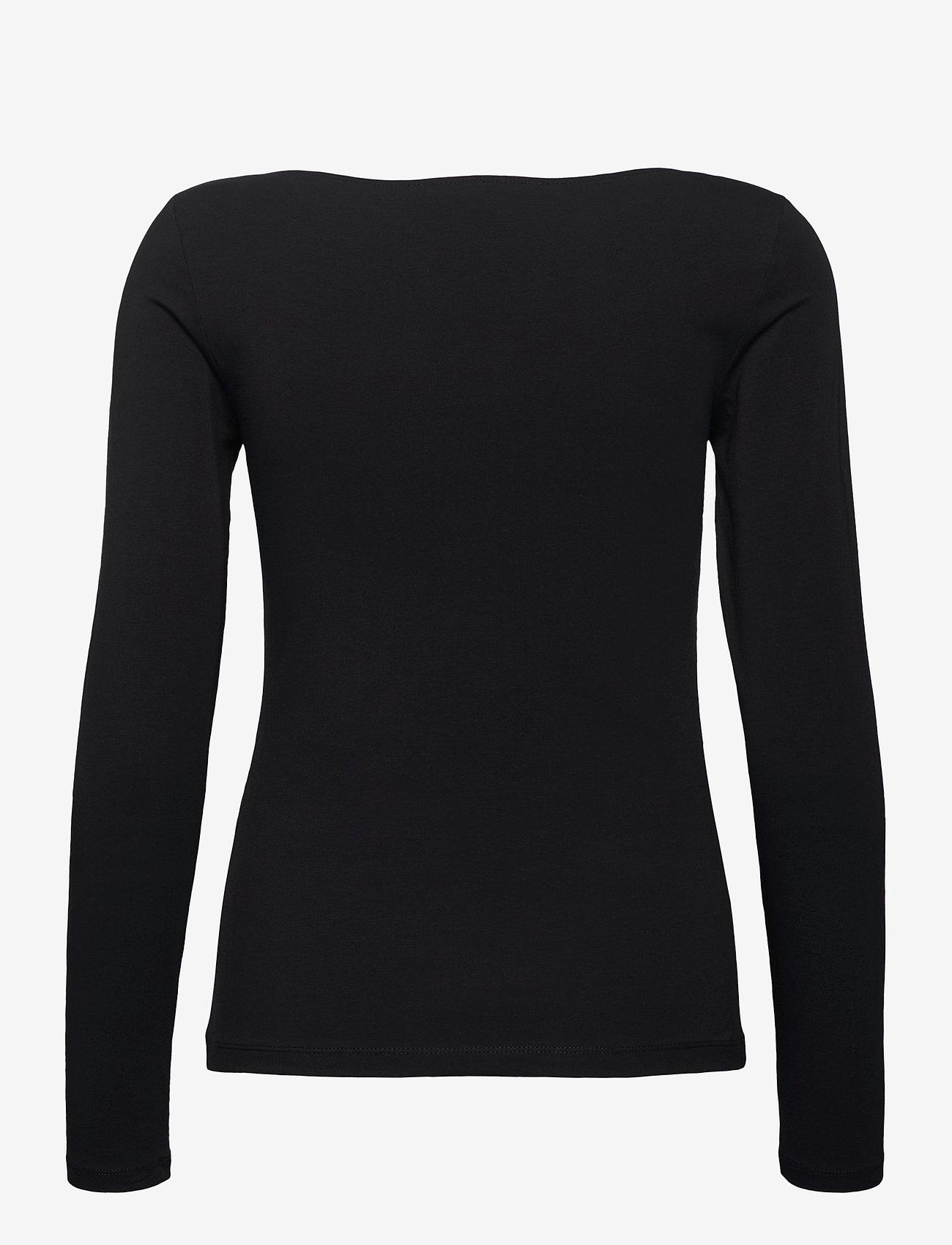 Calvin Klein Jeans - GOLD MICRO LOGO SQUARE NECK TOP - langermede topper - ck black - 1