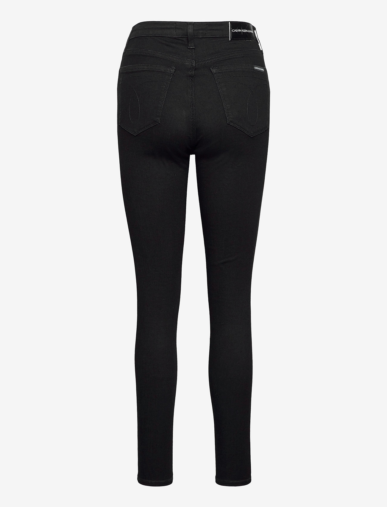 Calvin Klein Jeans - HIGH RISE SUPER SKINNY ANKLE - skinny jeans - denim black - 1