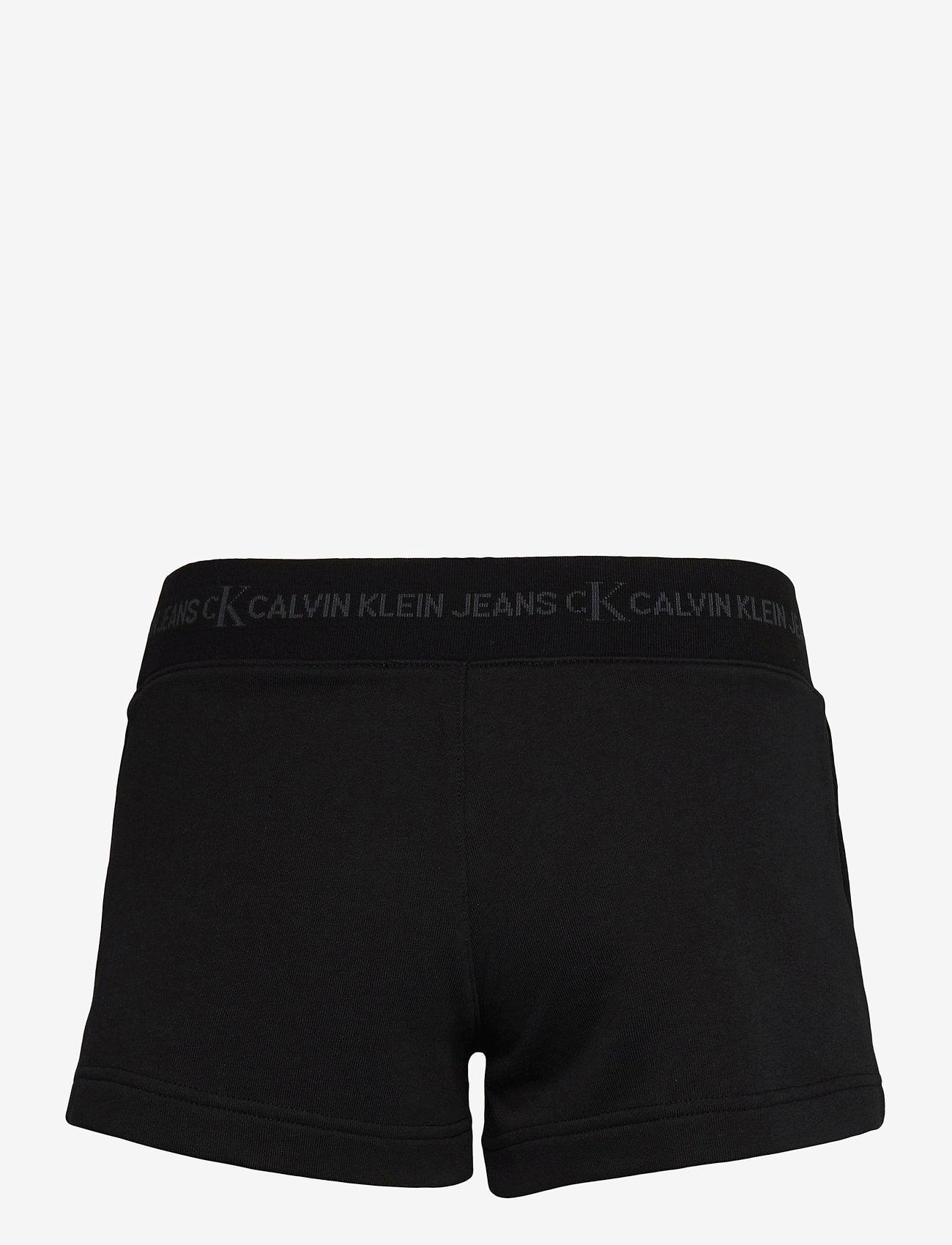 Calvin Klein Jeans - LOGO TRIM KNIT SHORT - shorts casual - ck black - 1