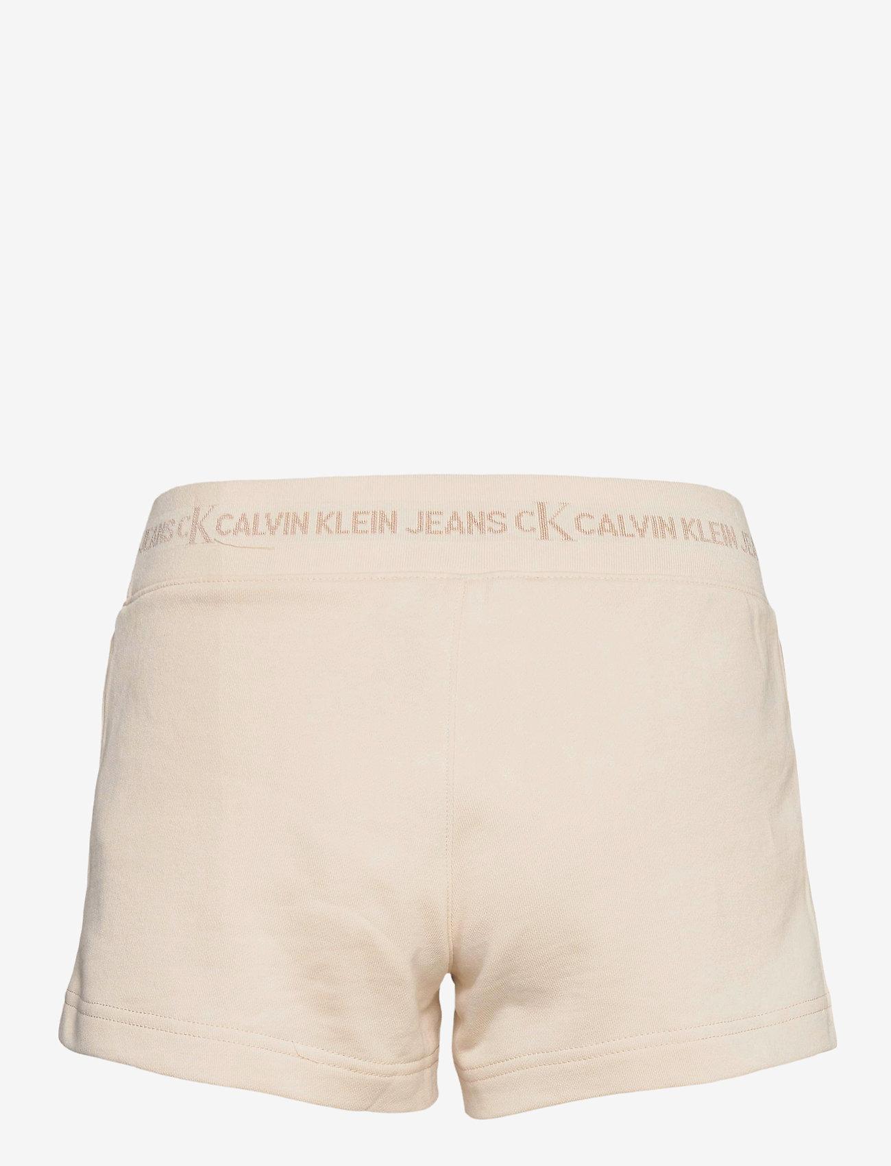 Calvin Klein Jeans - LOGO TRIM KNIT SHORT - shorts casual - white sand - 1