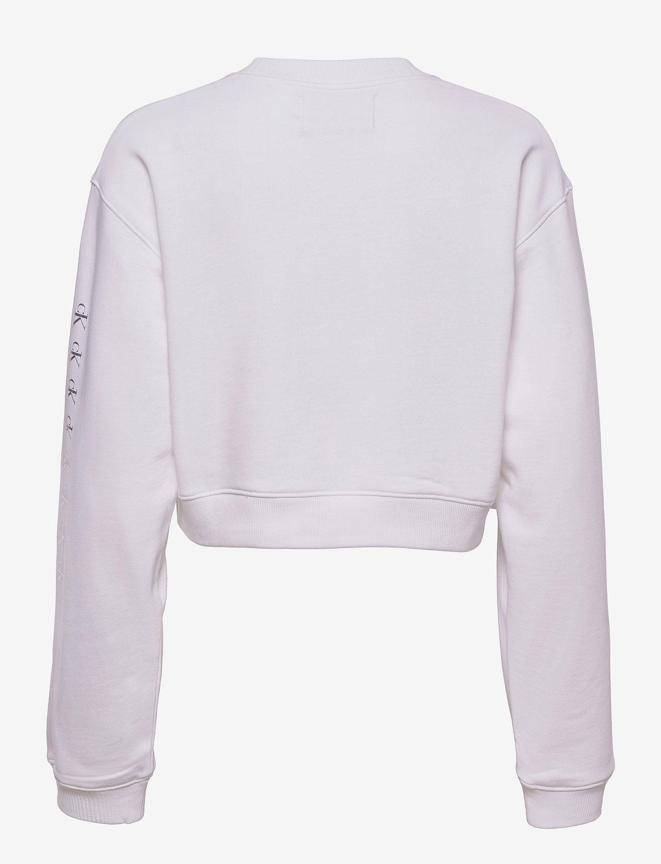 Calvin Klein Jeans - SHINE LOGO CREW NECK - sweatshirts & hættetrøjer - bright white - 1