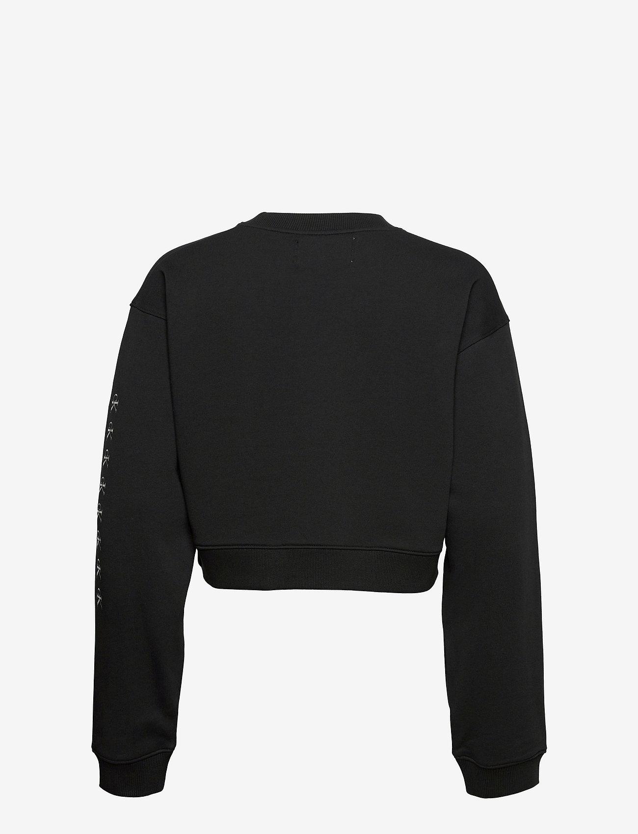 Calvin Klein Jeans - SHINE LOGO CREW NECK - sweatshirts & hættetrøjer - ck black - 1