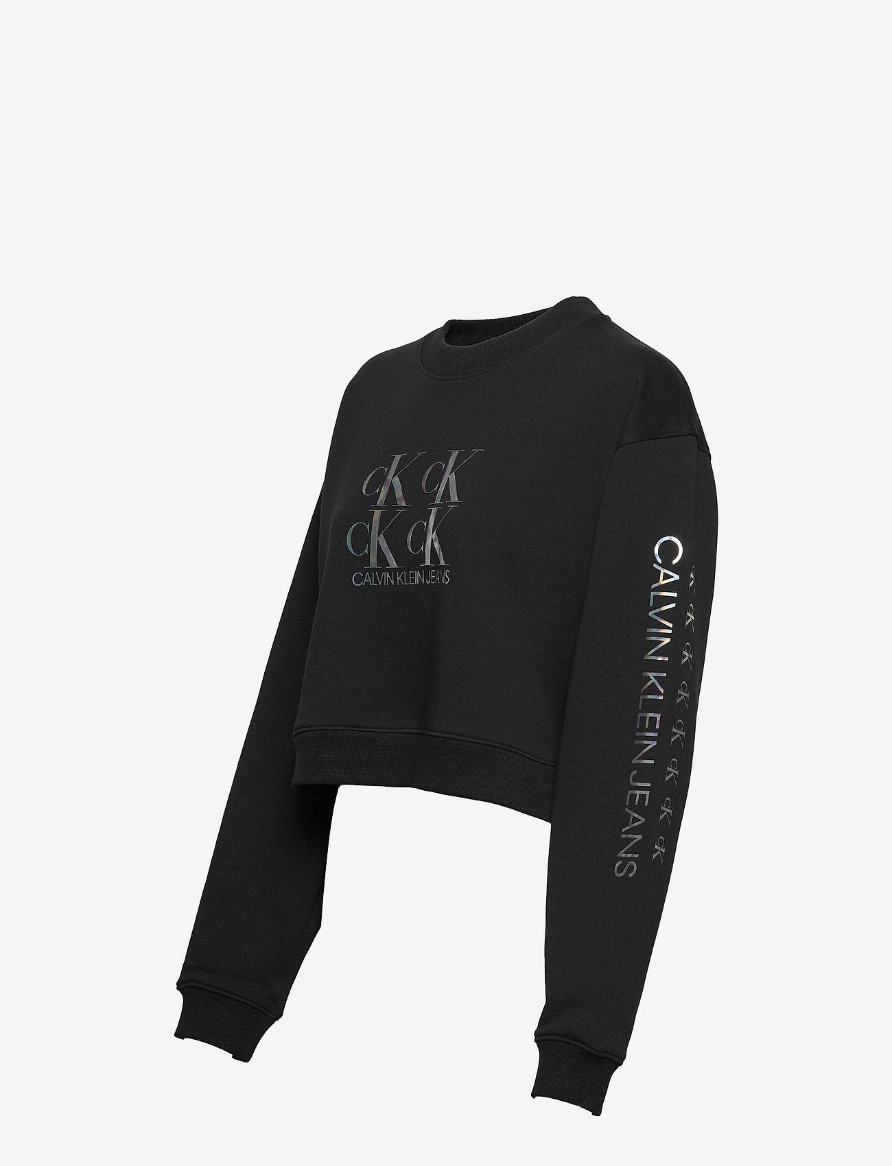 Calvin Klein Jeans - SHINE LOGO CREW NECK - sweatshirts & hættetrøjer - ck black - 2