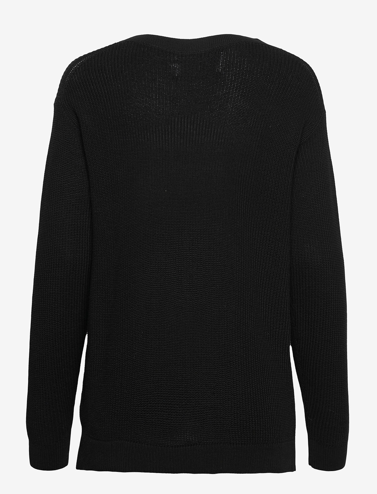 Calvin Klein Jeans - SLICED CK OVERSIZED SWEATER - gensere - ck black - 1