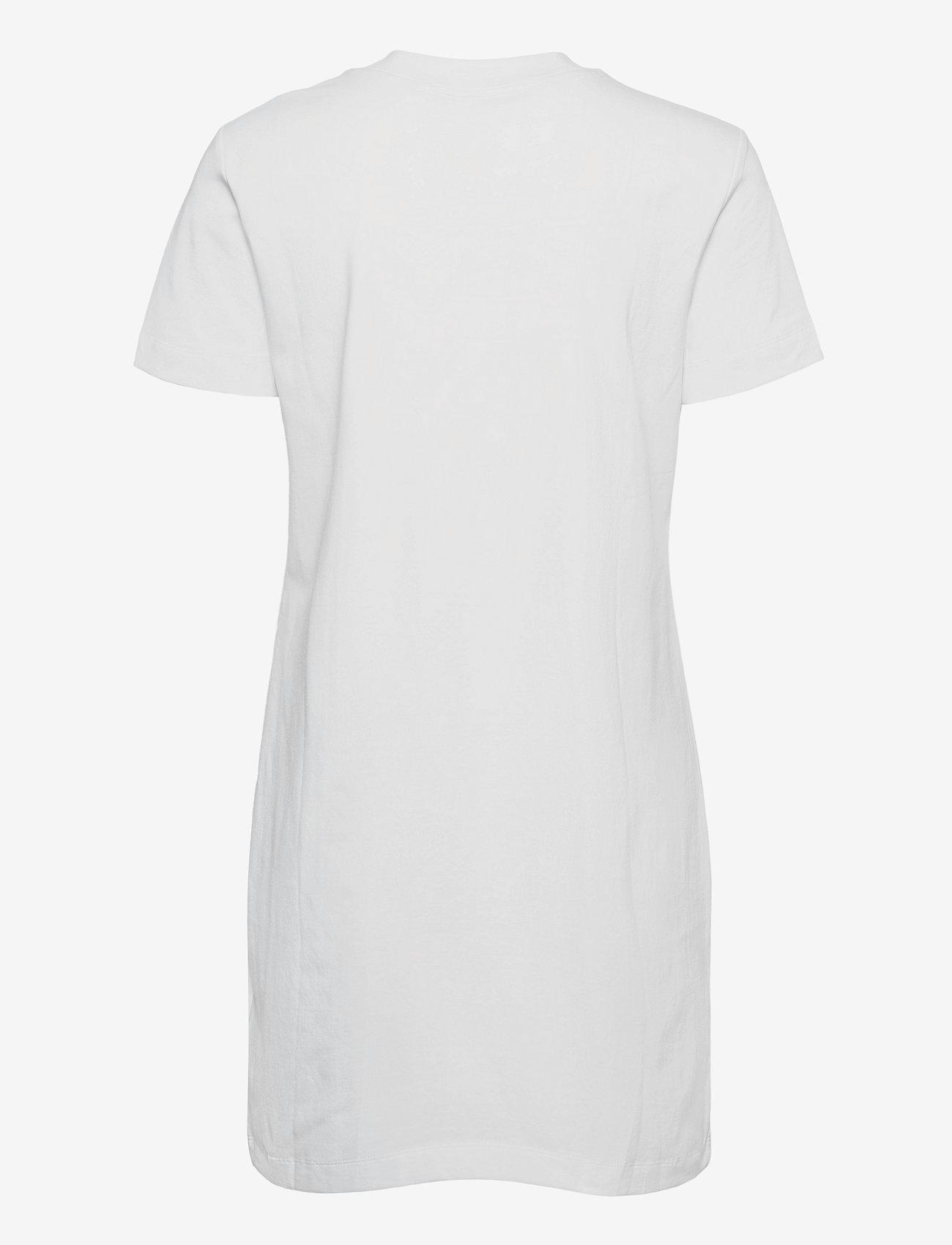 Calvin Klein Jeans - MICRO BRANDING T-SHIRT DRESS - sommerkjoler - bright white - 1