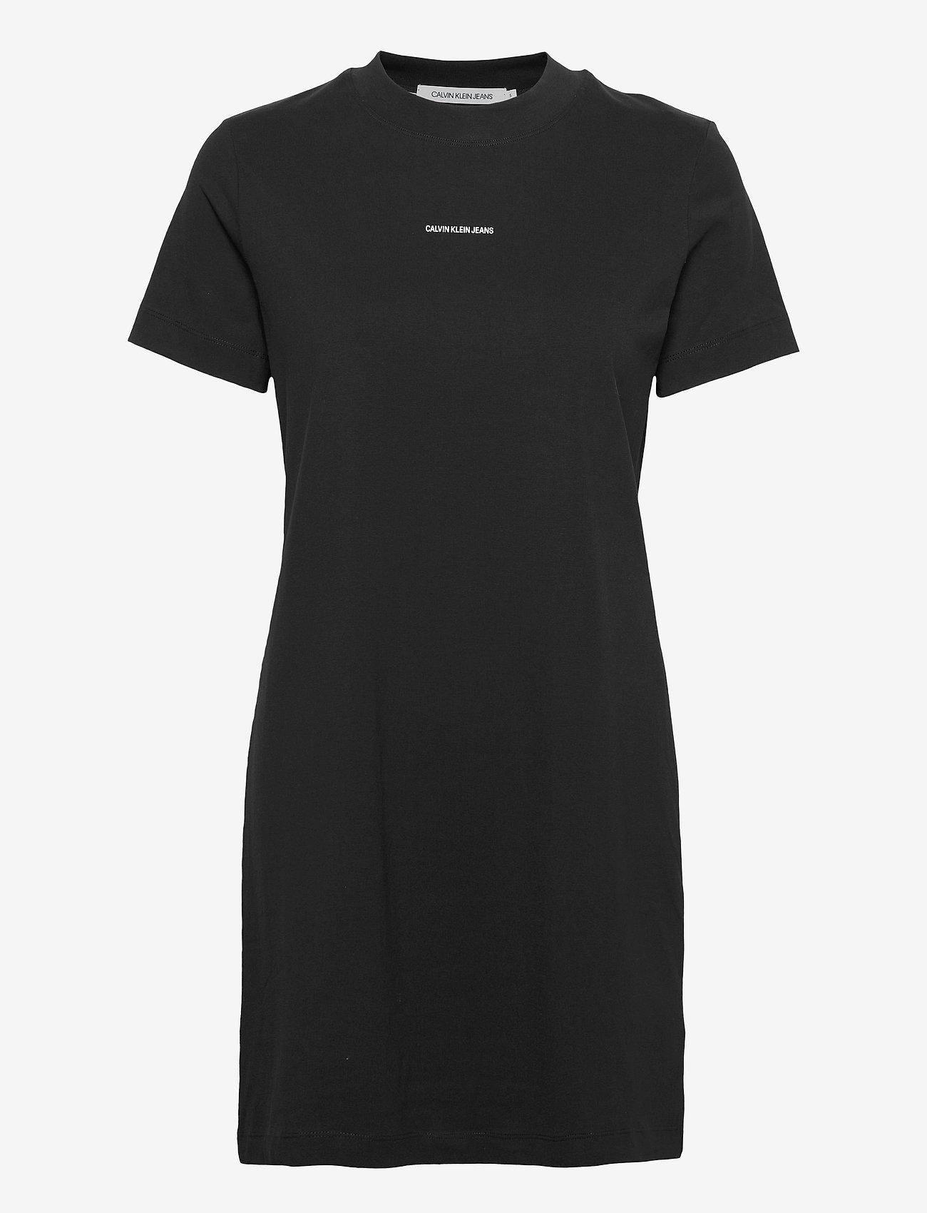 Calvin Klein Jeans - MICRO BRANDING T-SHIRT DRESS - sommerkjoler - ck black - 0