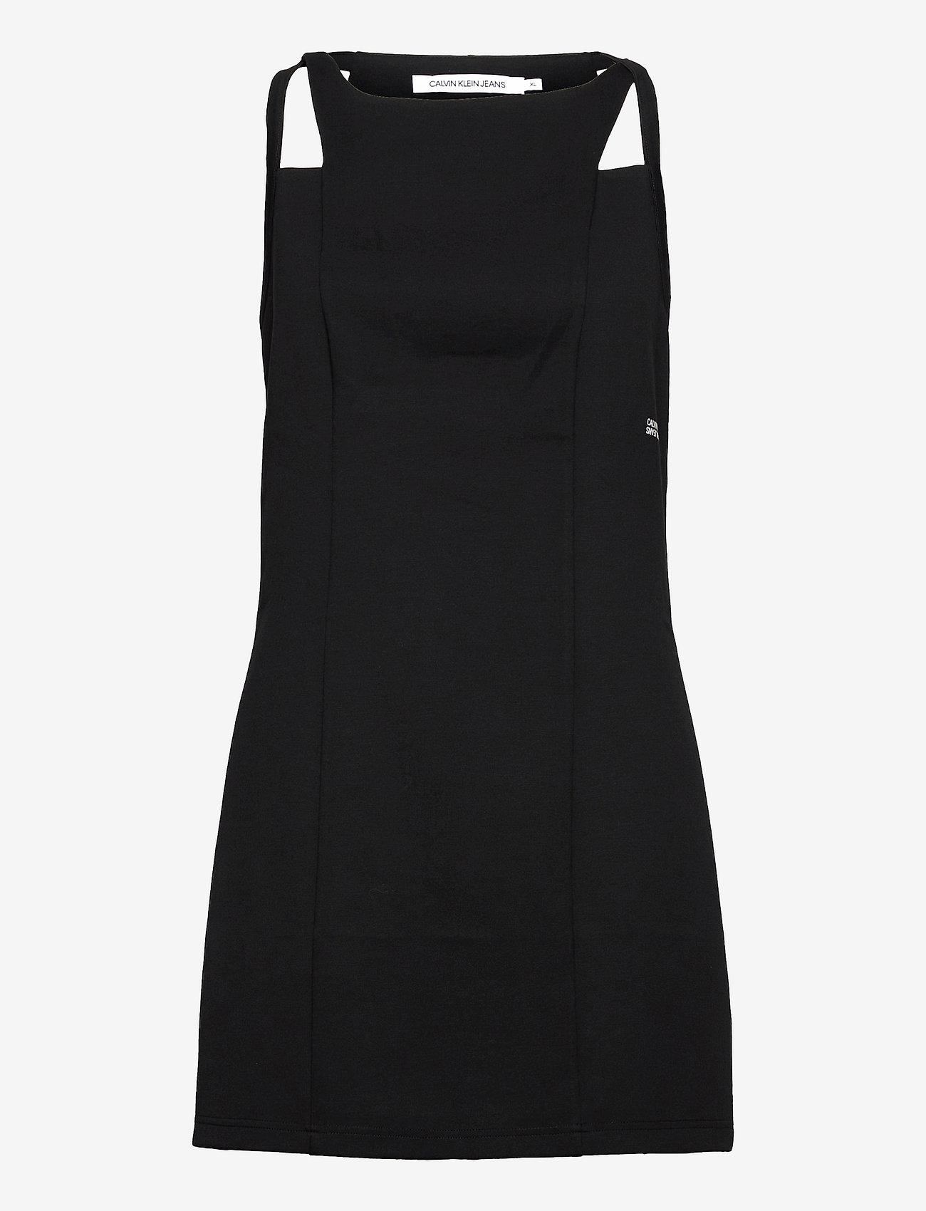 Calvin Klein Jeans - SIDE LOGO MILANO STRAPPY DRESS - sommerkjoler - ck black - 0