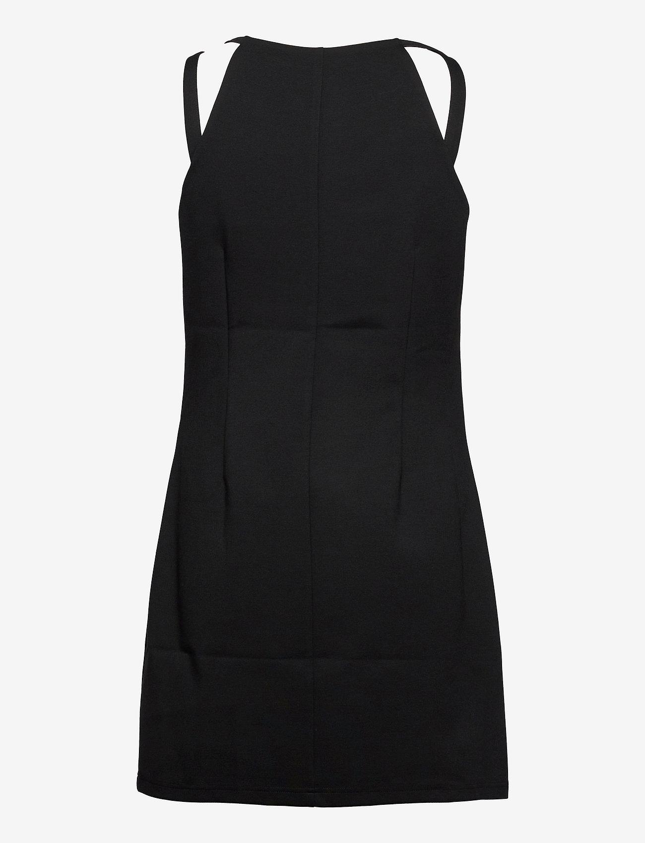 Calvin Klein Jeans - SIDE LOGO MILANO STRAPPY DRESS - sommerkjoler - ck black - 1