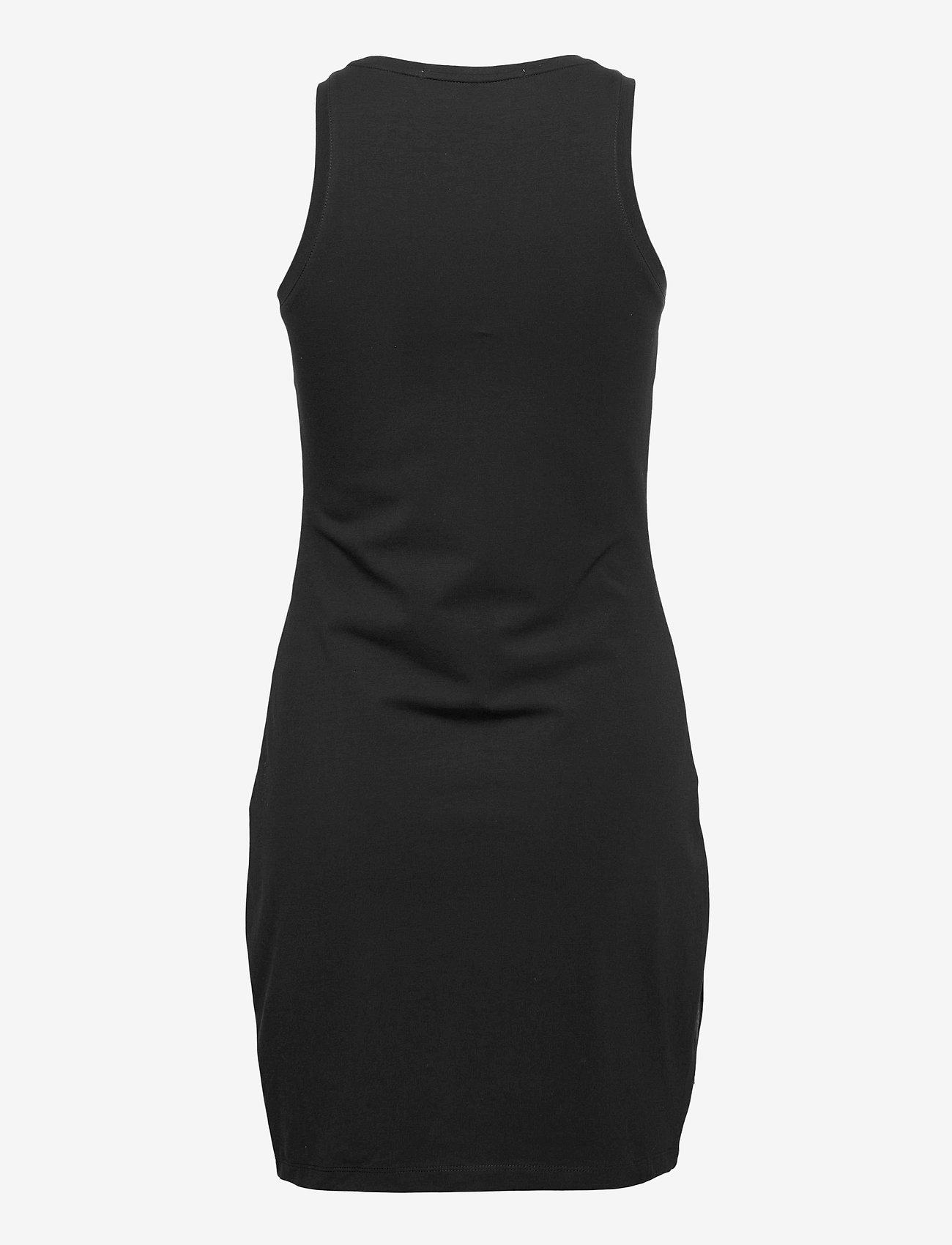 Calvin Klein Jeans - LOGO TRIM RACER BACK DRESS - sommerkjoler - ck black - 1
