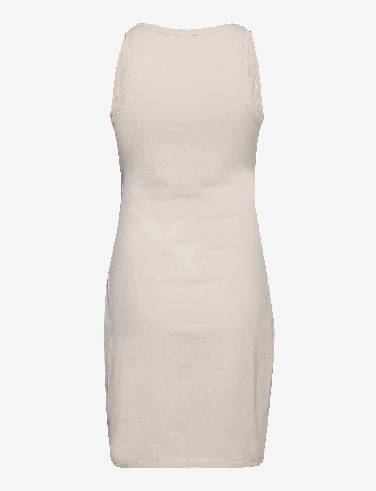 Calvin Klein Jeans - LOGO TRIM RACER BACK DRESS - sommerkjoler - white sand - 1