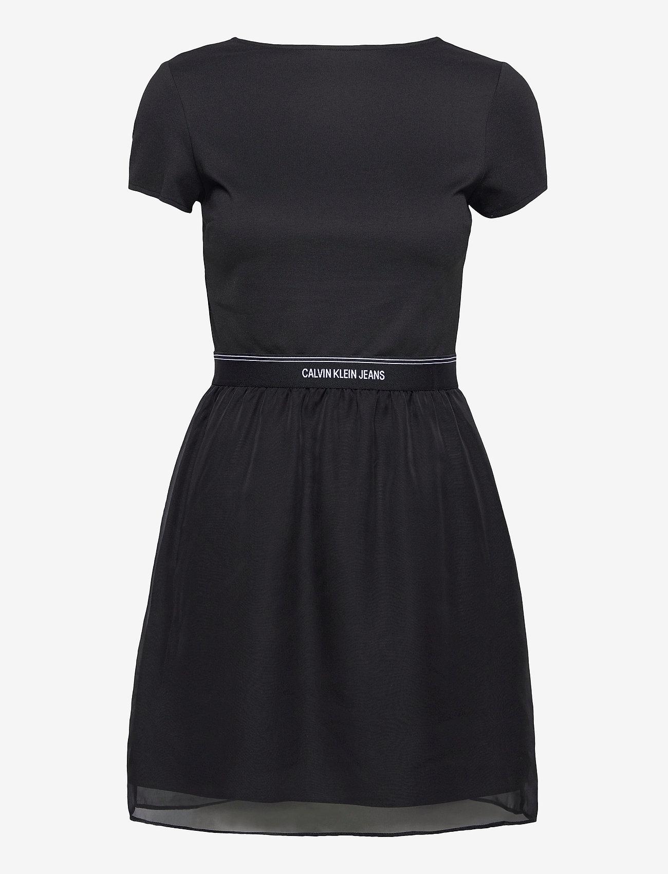 Calvin Klein Jeans - LOGO WAISTBAND DRESS - hverdagskjoler - ck black - 0