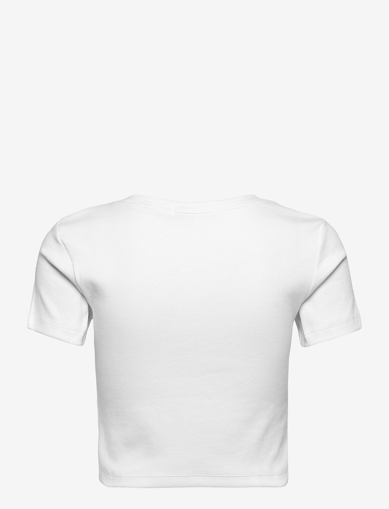 Calvin Klein Jeans - MICRO BRANDING CROP RIB TOP - crop tops - bright white - 1