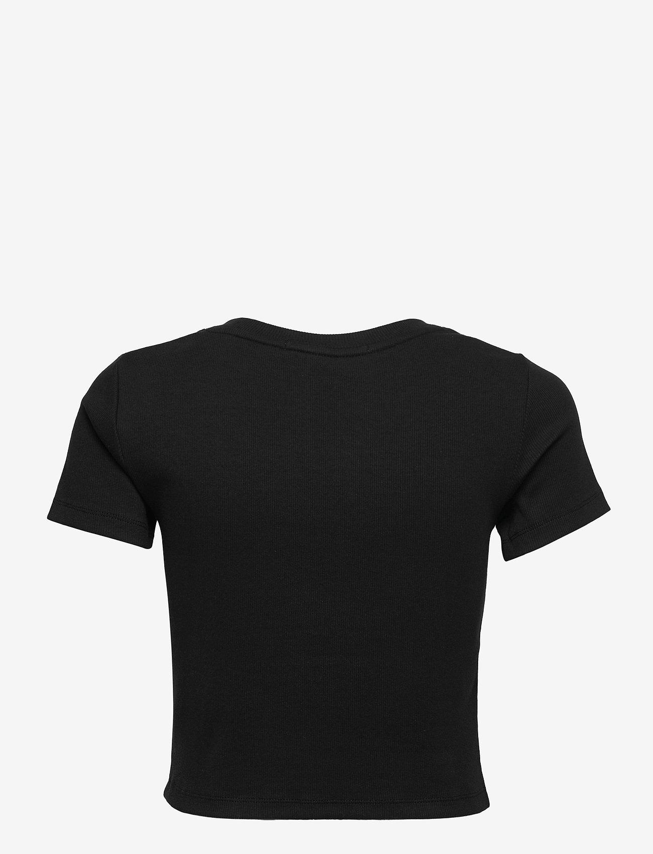 Calvin Klein Jeans - MICRO BRANDING CROP RIB TOP - crop tops - ck black - 1