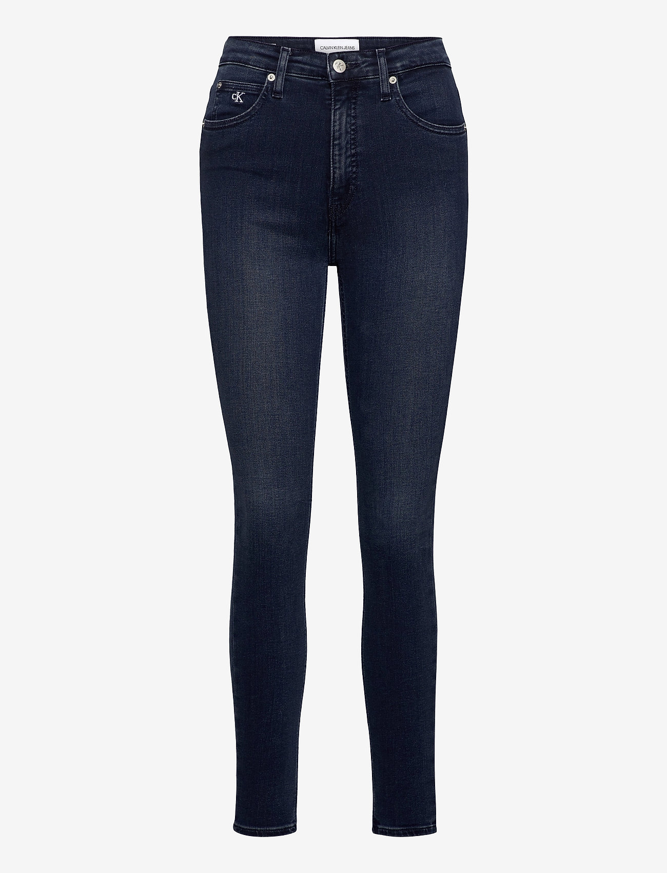 Calvin Klein Jeans - HIGH RISE SUPER SKINNY ANKLE - skinny jeans - denim dark - 0