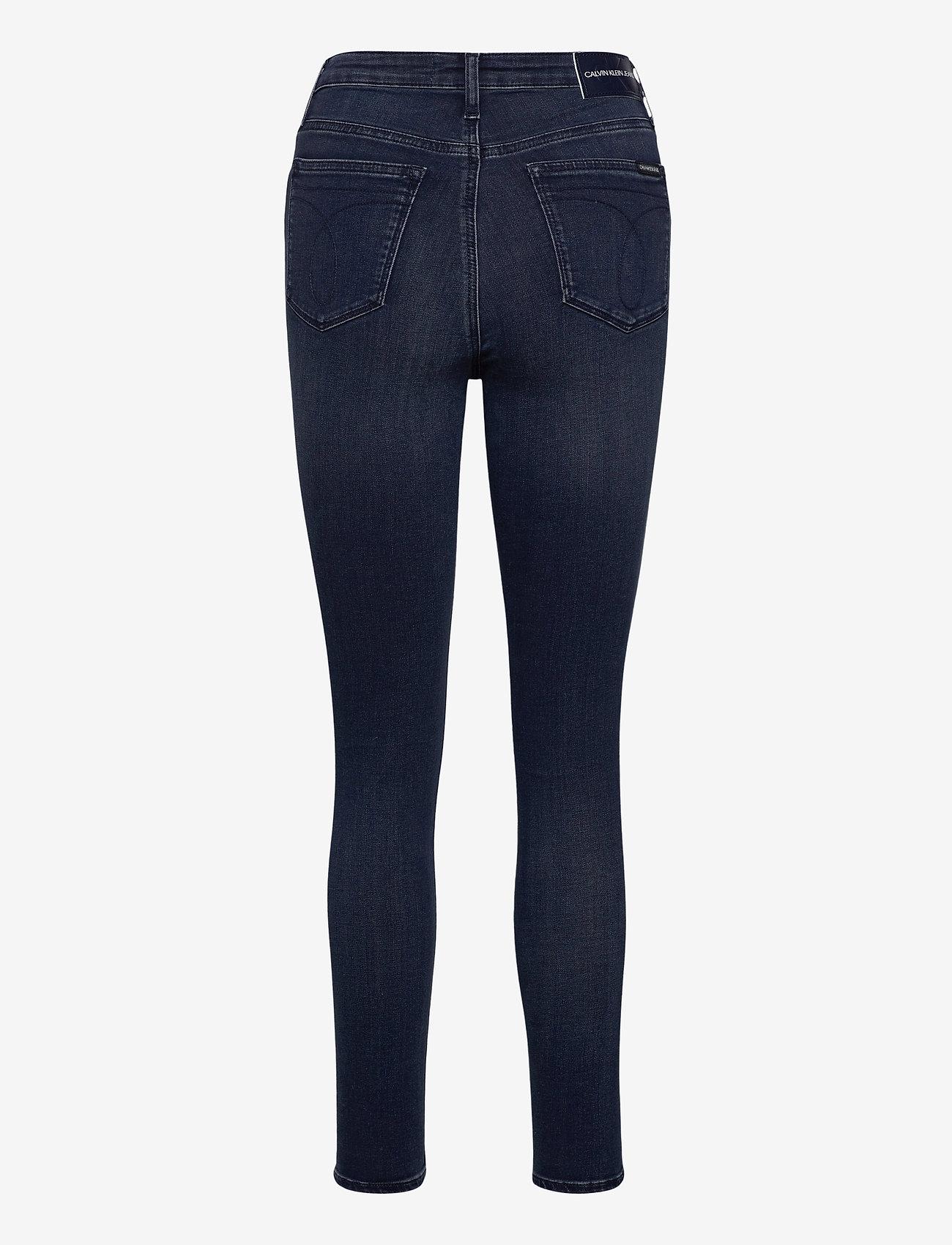Calvin Klein Jeans - HIGH RISE SUPER SKINNY ANKLE - skinny jeans - denim dark - 1