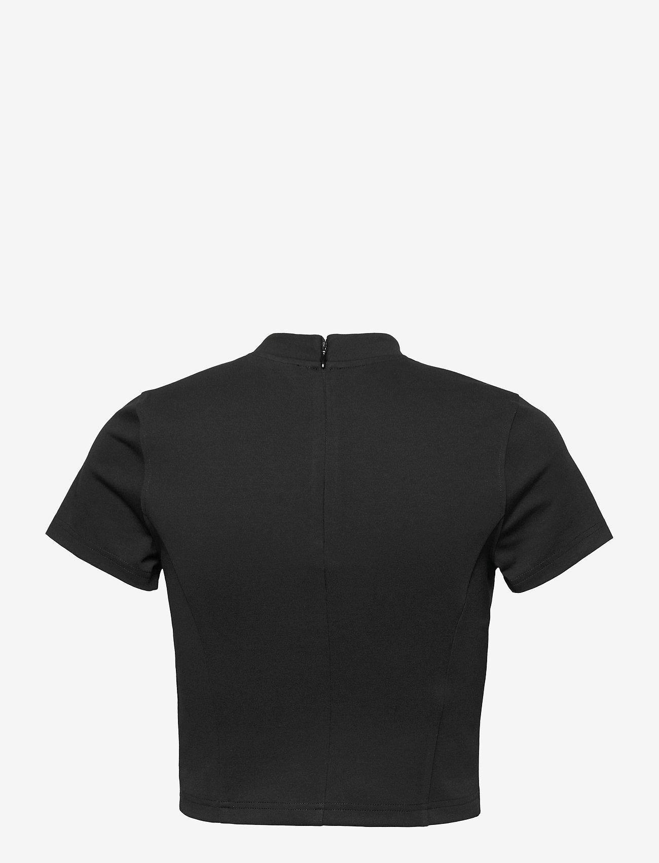 Calvin Klein Jeans - MILANO CENTER INSTITUTIONAL SS - crop tops - ck black - 1