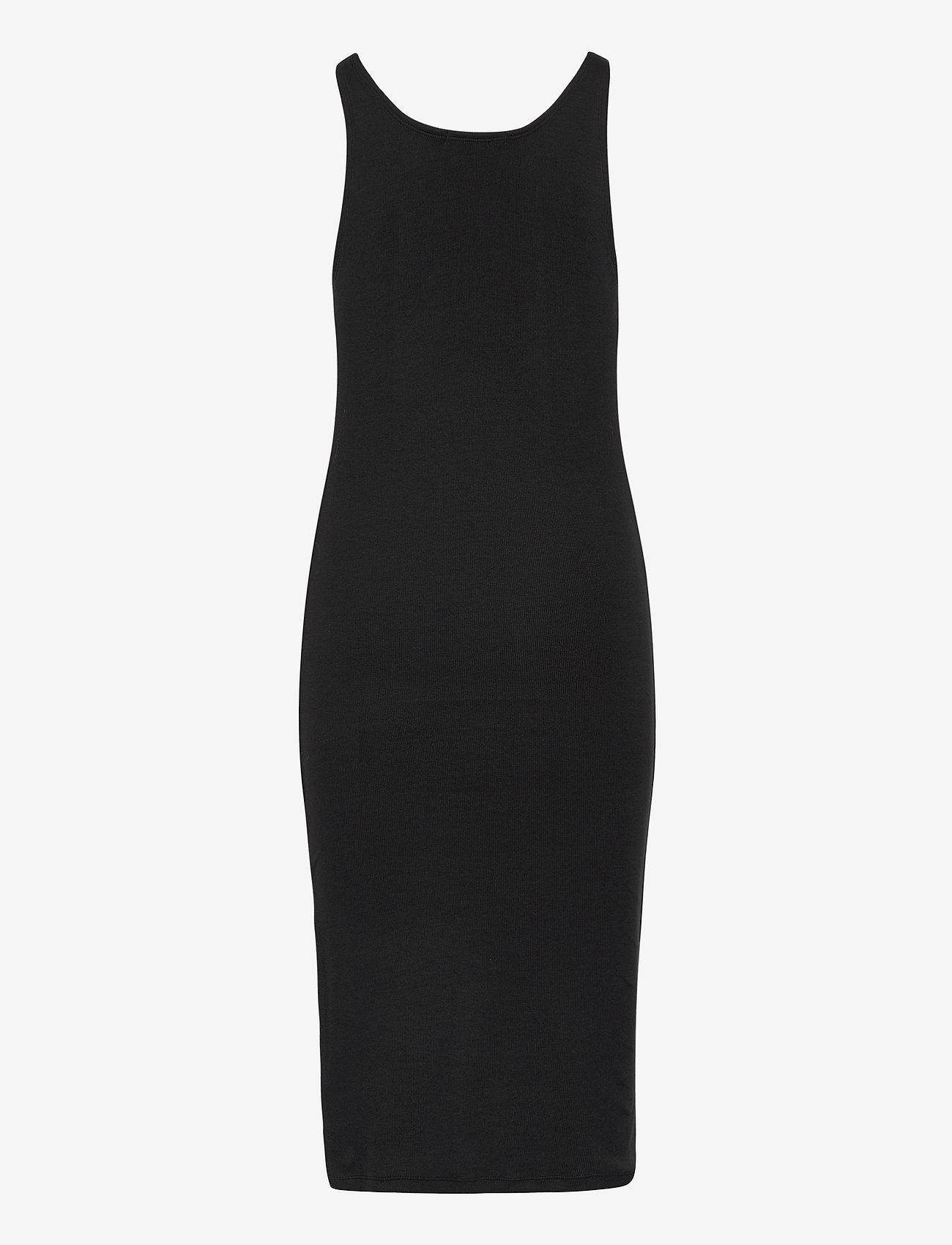 Calvin Klein Jeans - MICRO BRANDING STRAPPY RIB DRESS - sommerkjoler - ck black - 1