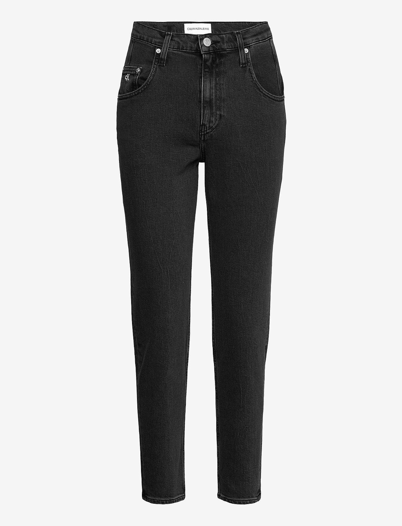 Calvin Klein Jeans - MOM JEAN - mammajeans - denim black - 0