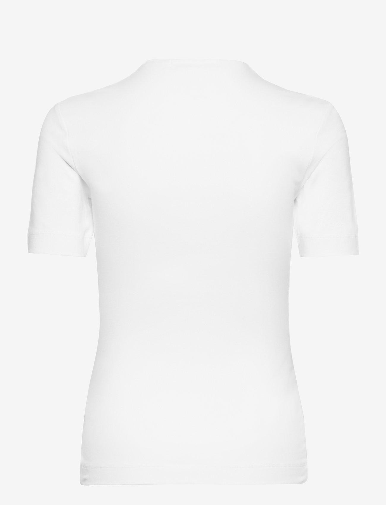 Calvin Klein Jeans - MICRO BRANDING STRETCH MOCK NECK - t-shirts - bright white - 1