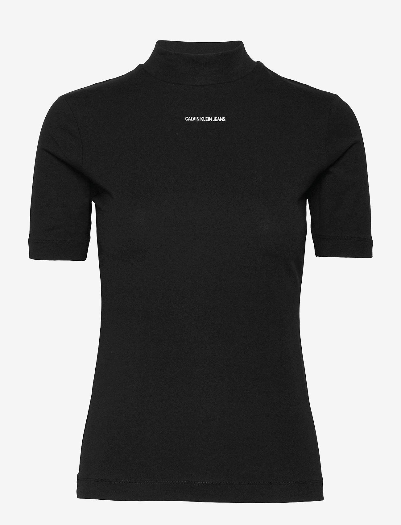 Calvin Klein Jeans - MICRO BRANDING STRETCH MOCK NECK - t-shirts - ck black - 0