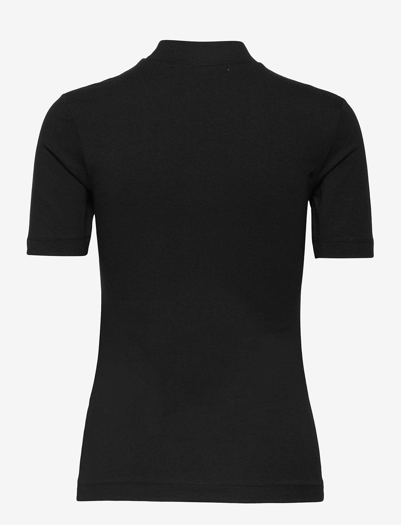Calvin Klein Jeans - MICRO BRANDING STRETCH MOCK NECK - t-shirts - ck black - 1
