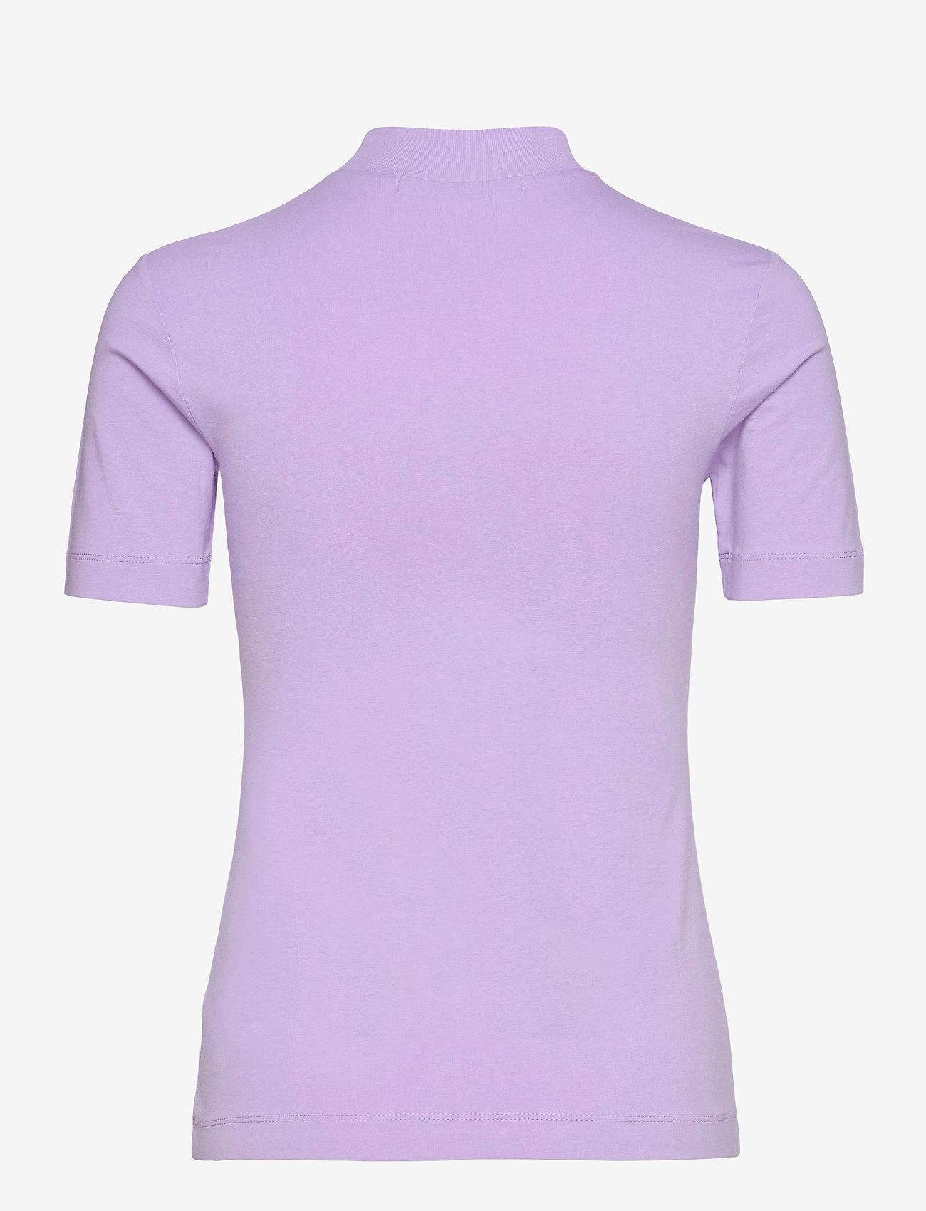 Calvin Klein Jeans - MICRO BRANDING STRETCH MOCK NECK - t-shirts - palma lilac - 1