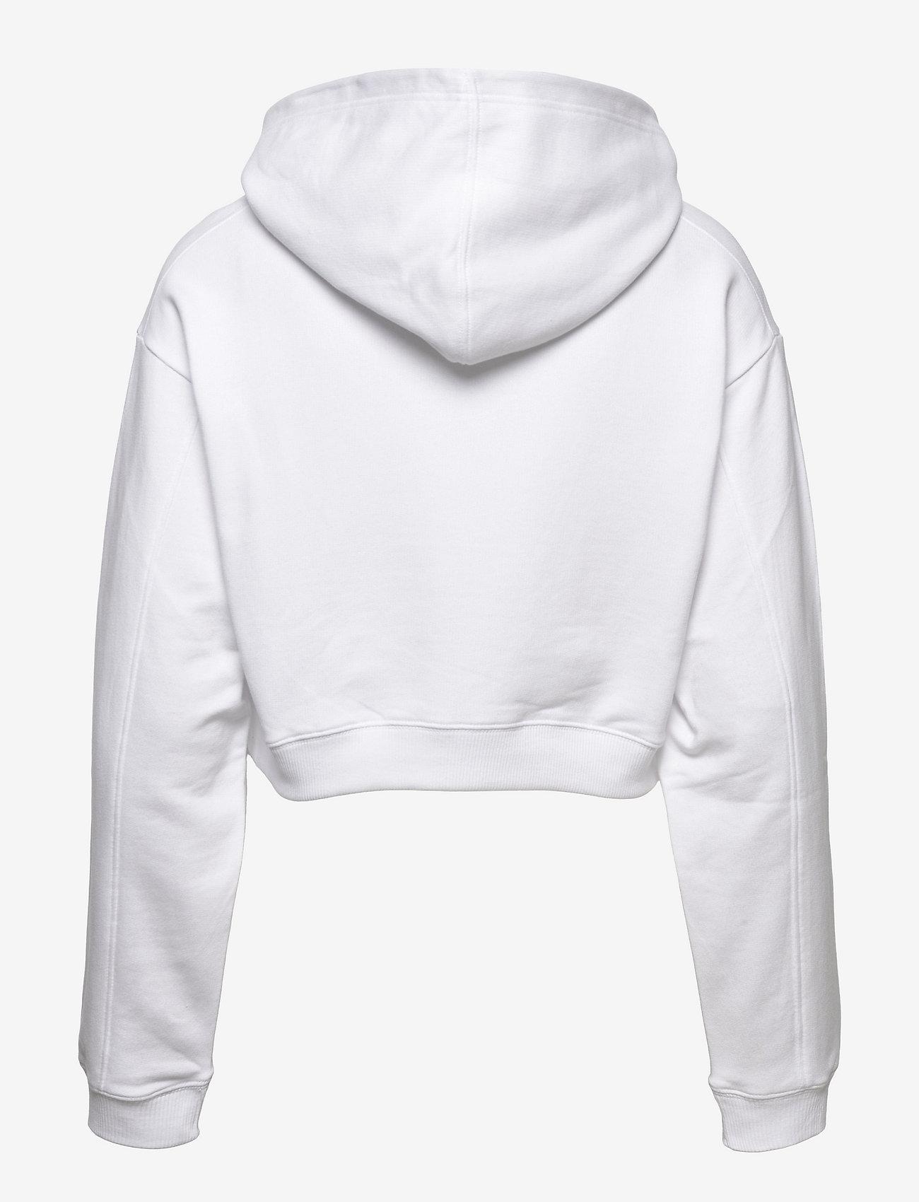 Calvin Klein Jeans - TONAL MONOGRAM HOODIE - sweatshirts & hættetrøjer - bright white - 1